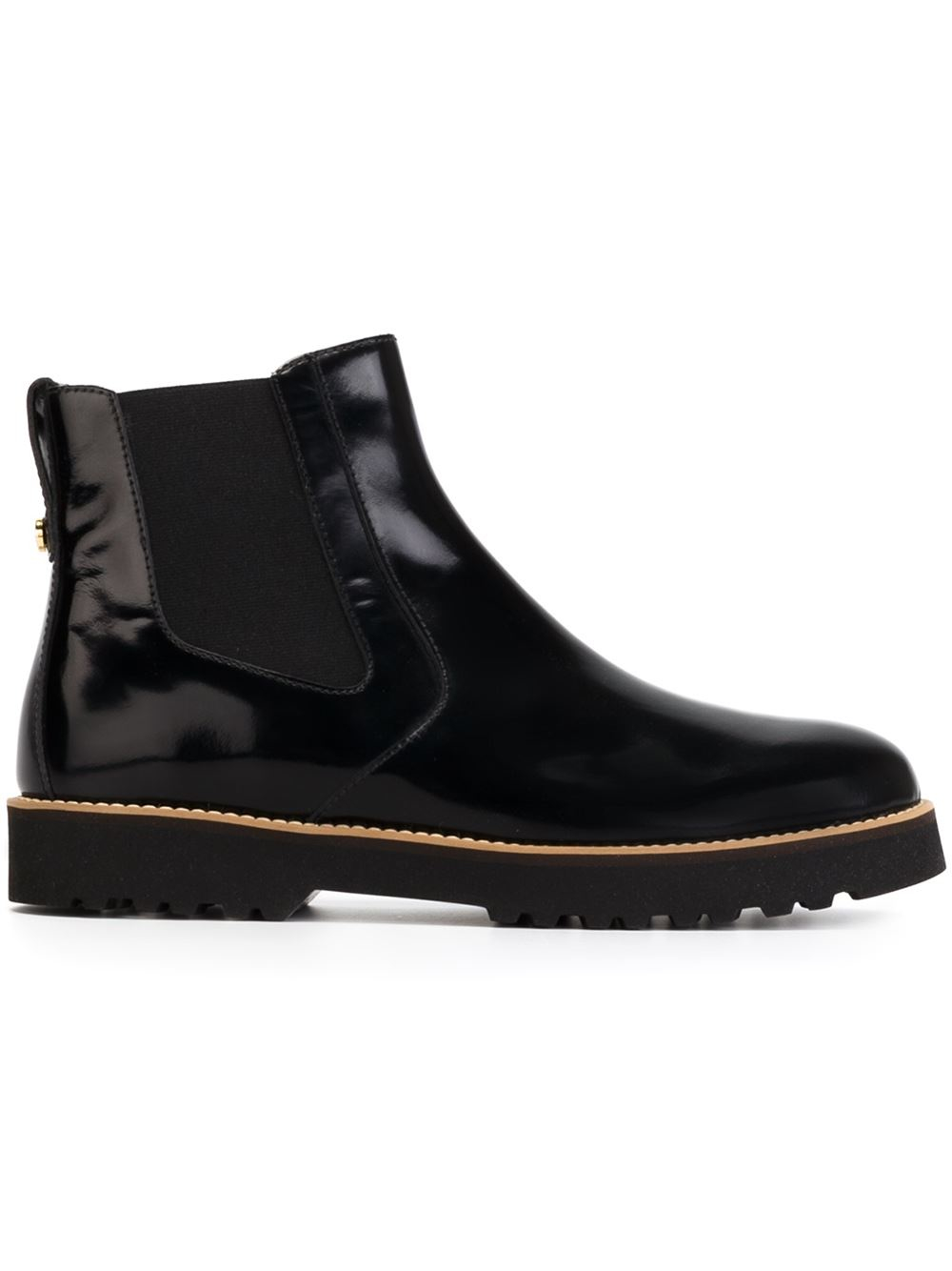 rubber sole chelsea boots in black lyst