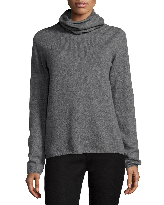 Lyst Joseph Cashmere Turtleneck Sweater In Gray