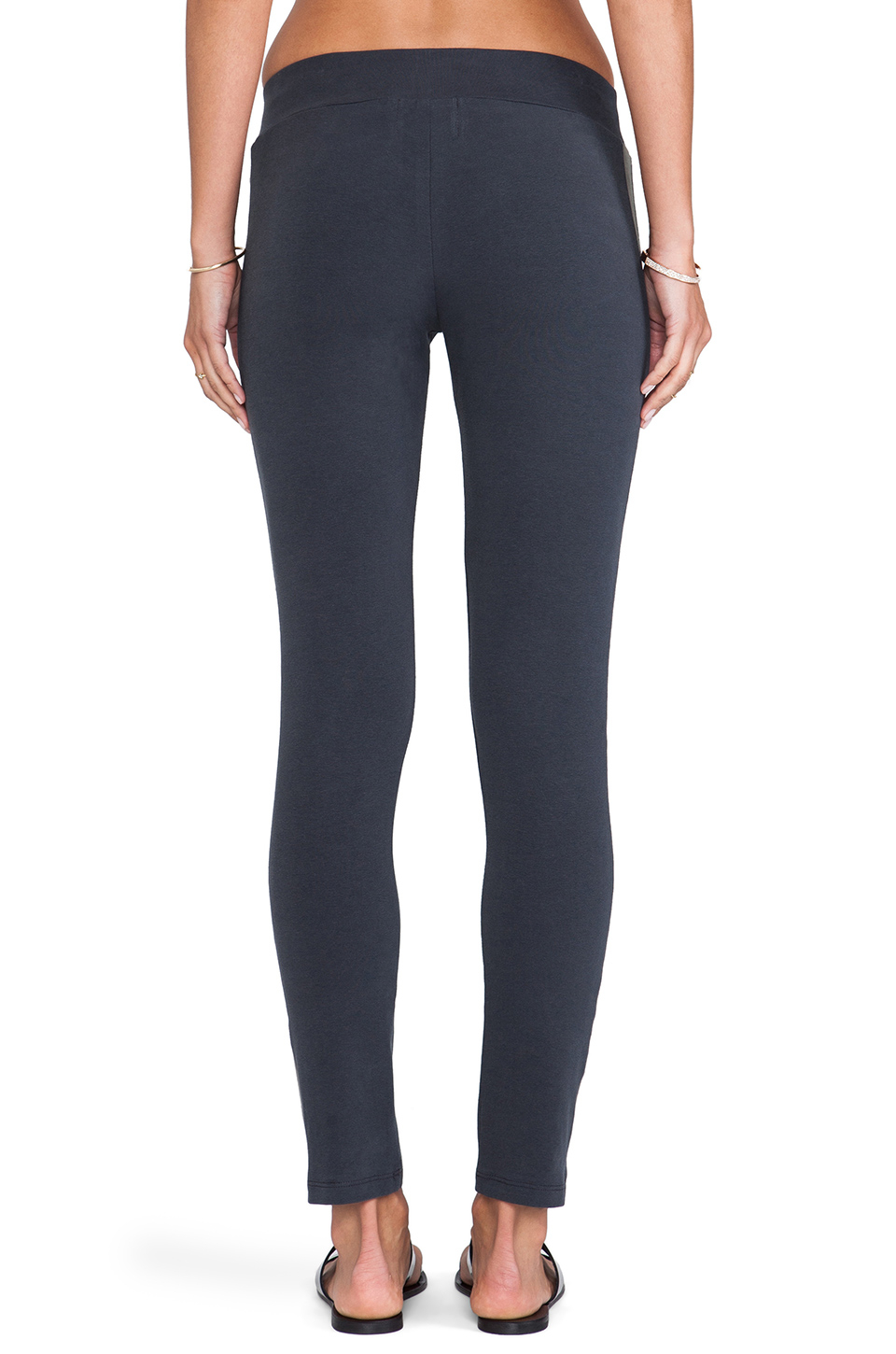 9c3c0dc894 Lyst - Monrow Heavy Stretch Cotton Tuxedo Leggings in Blue