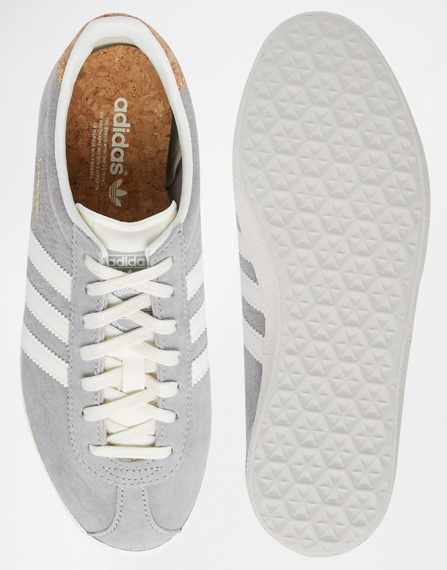 new style 3ce71 4d867 ... authentic lyst adidas originals gazelle og solid grey trainers in gray  264d5 0c815