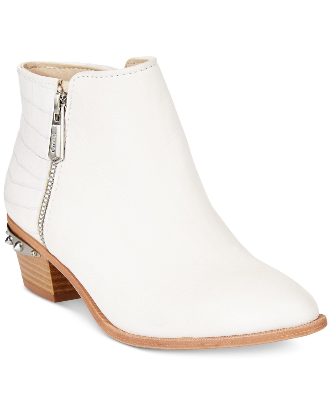 7cb00fa2adc95 Lyst - Circus by Sam Edelman Holt Booties in White