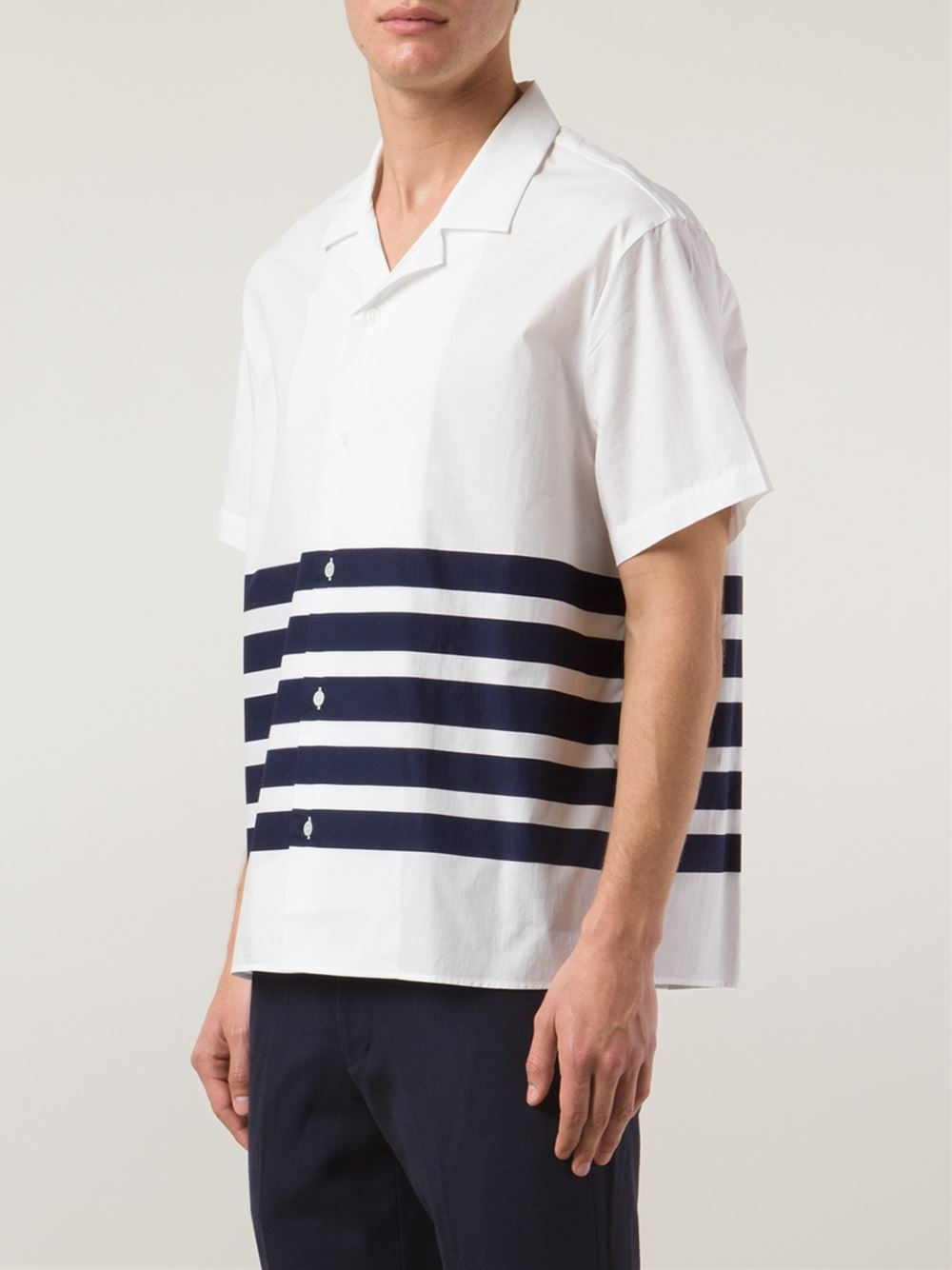 lyst acne studios 39 ody 39 striped shirt in white for men