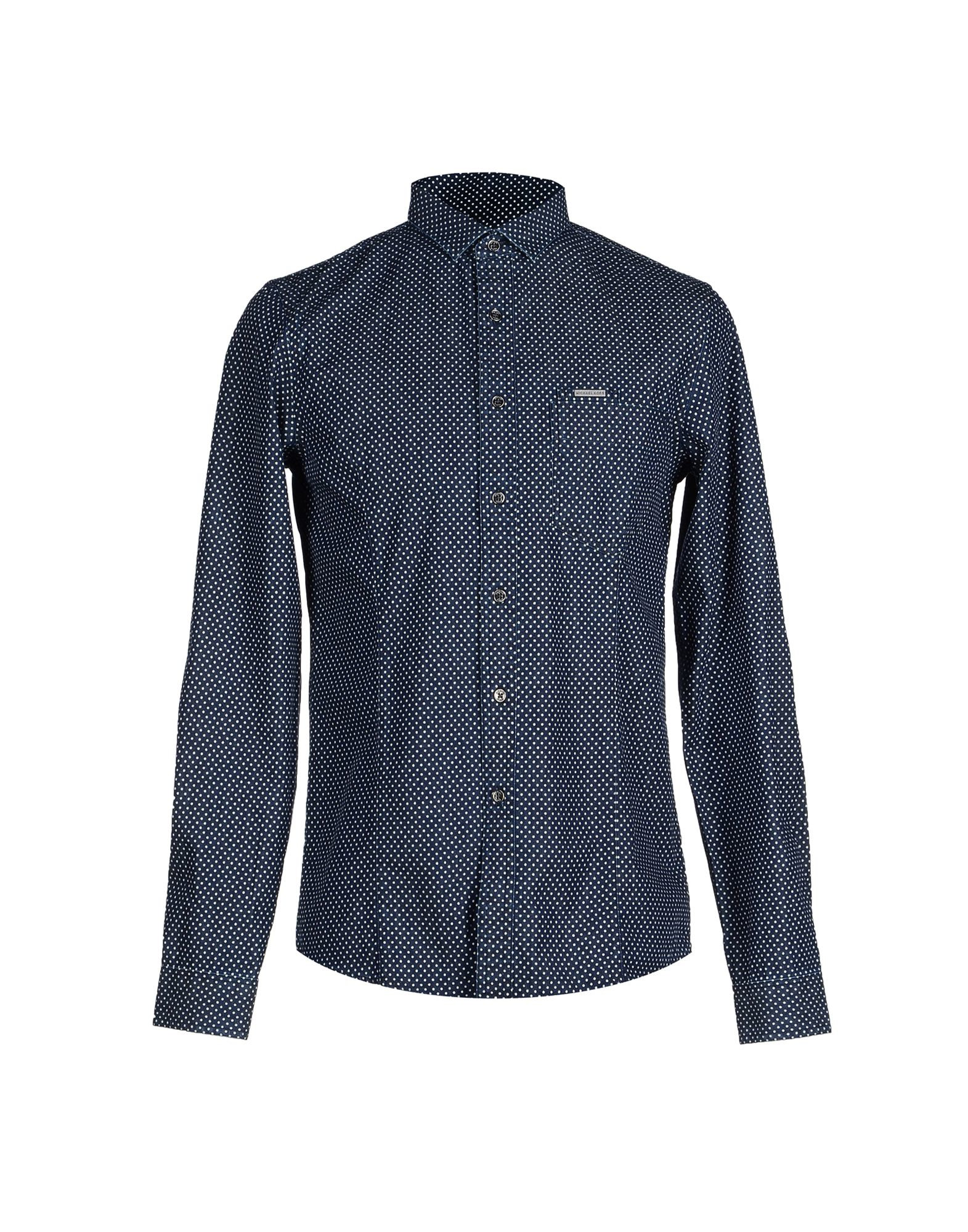 lyst michael kors denim shirt in blue for men. Black Bedroom Furniture Sets. Home Design Ideas