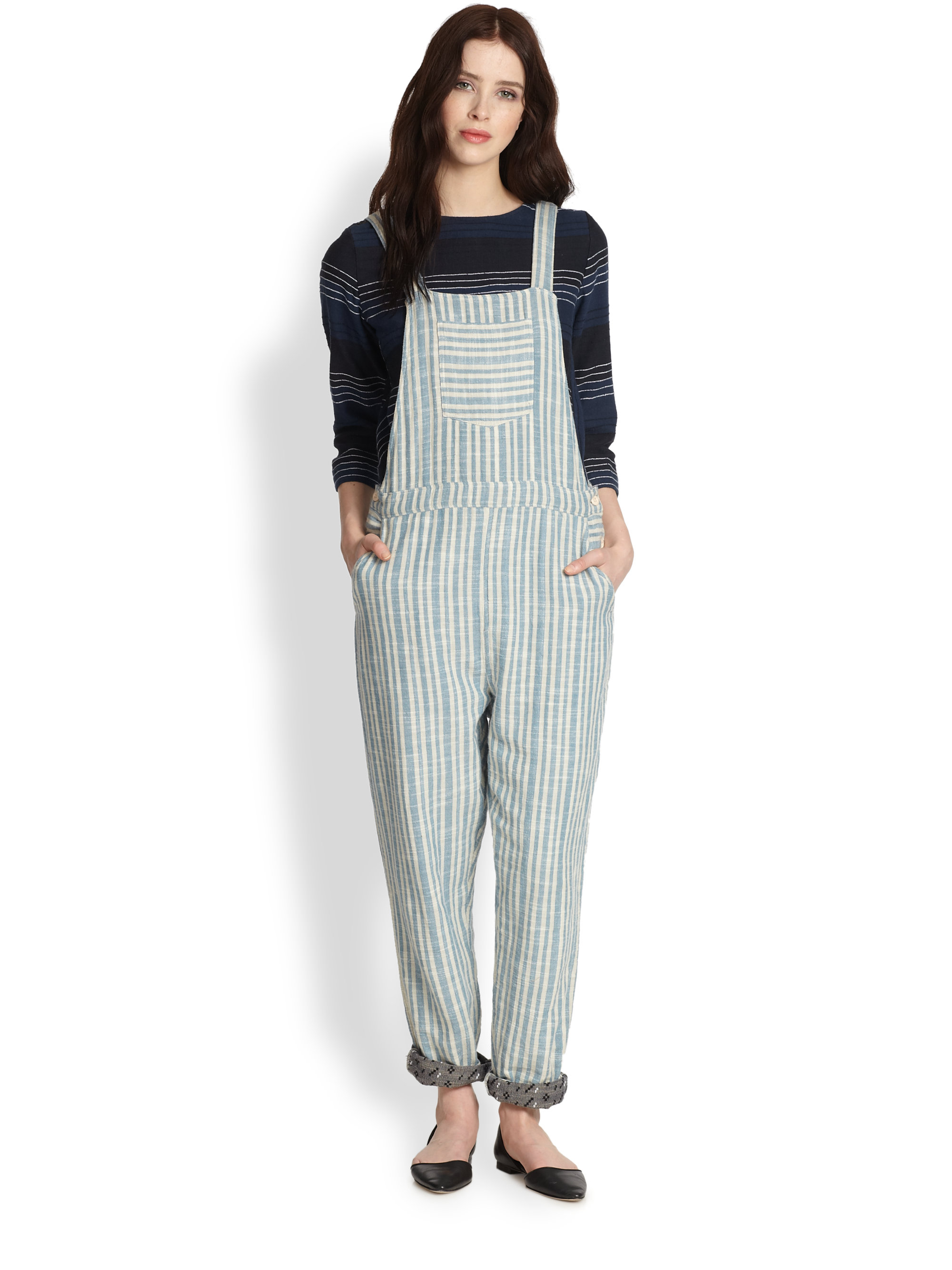 Lyst Ace Jig Striped Overalls In Blue