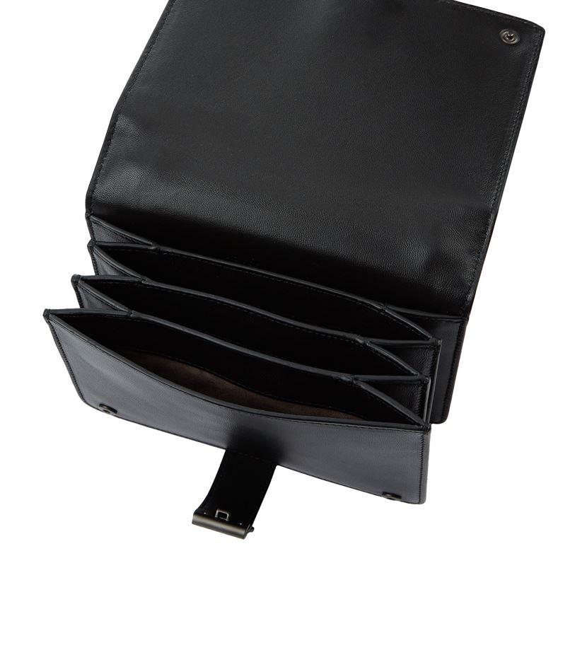 d8864c68f307 Bottega Veneta Intrecciato Runway Shoulder Mini Bag in Black - Lyst