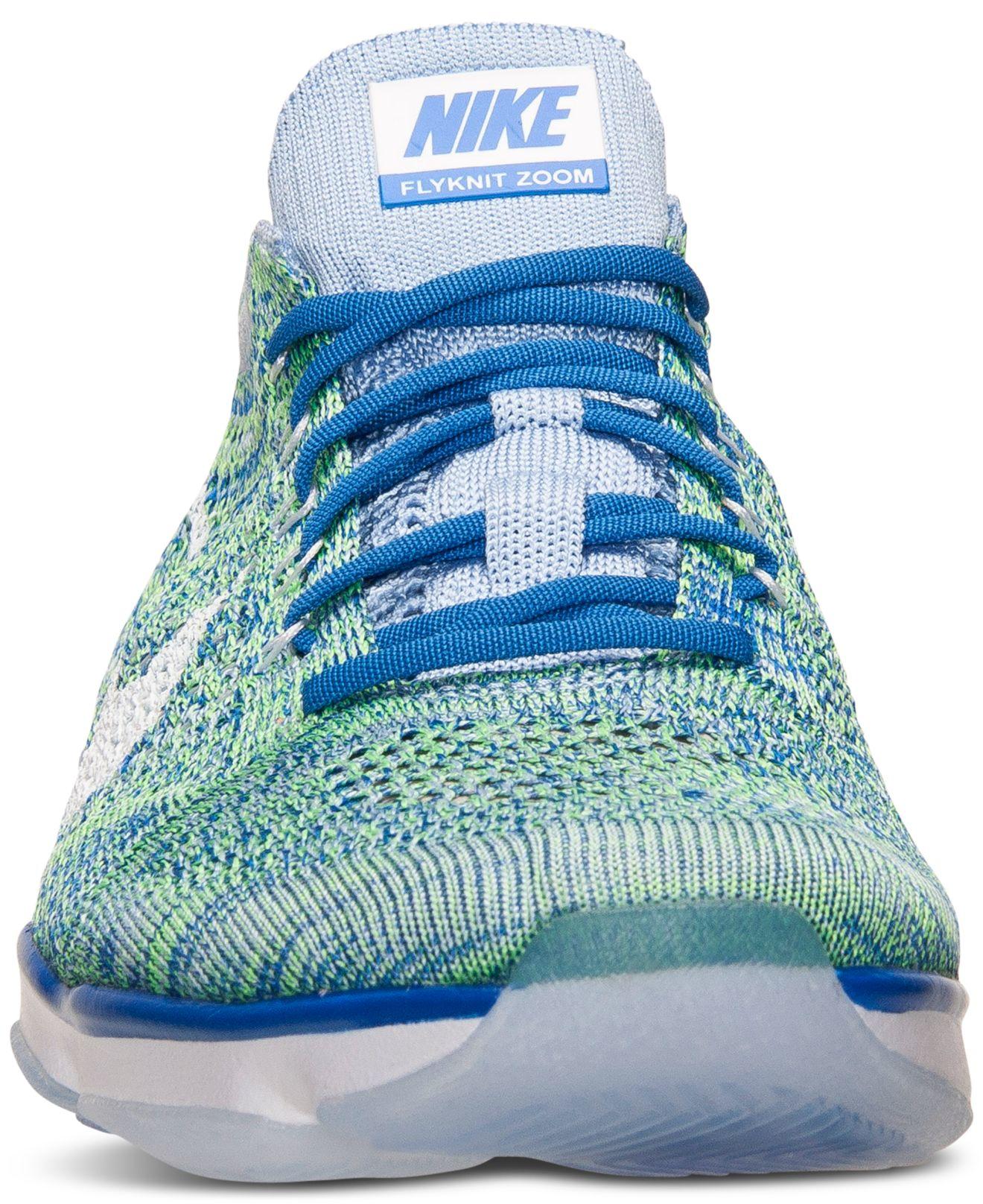 10a87aea2116 Lyst - Nike Women s Flyknit Zoom Agility Training Sneakers From Finish Line  in Blue