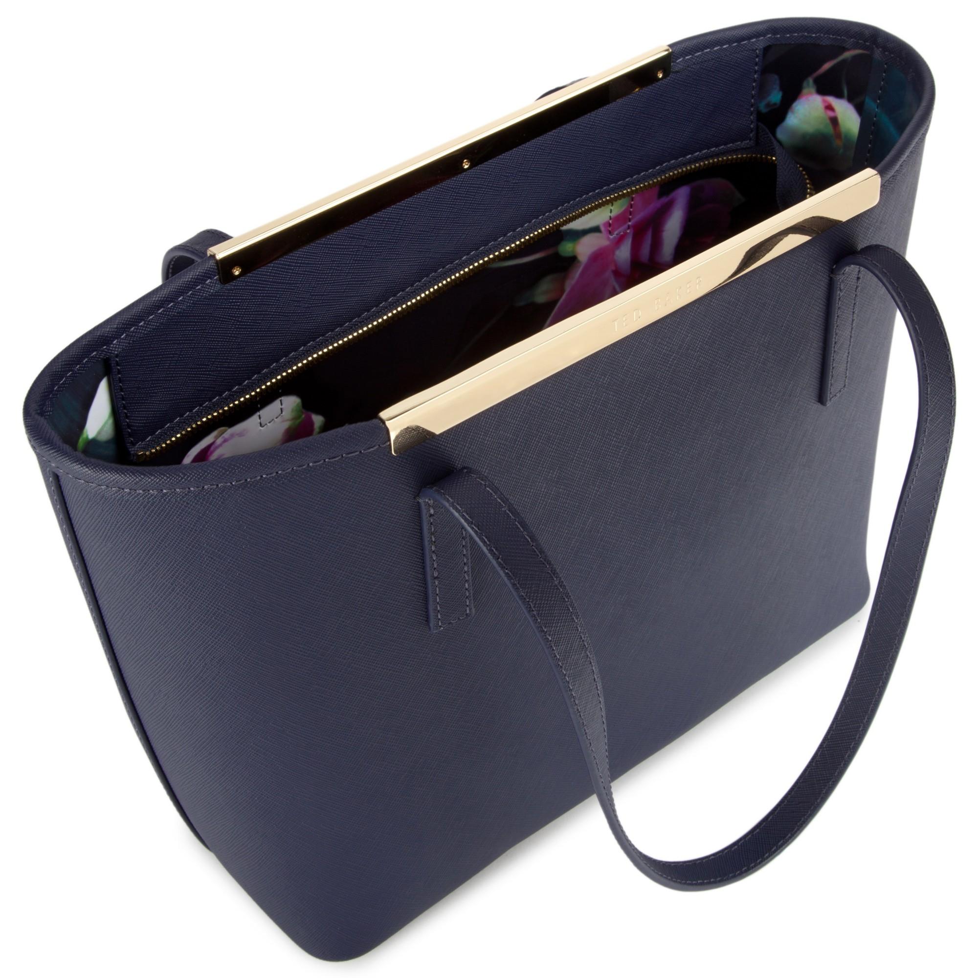 afe491a7373d Ted Baker Phoebie Crosshatch Shopper Bag in Blue - Lyst
