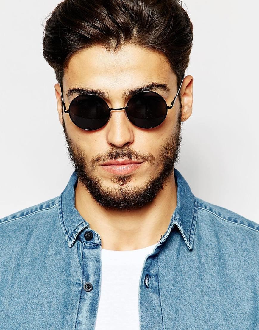 ToyShades Blackguard Round Sunglasses in Black for Men - Lyst