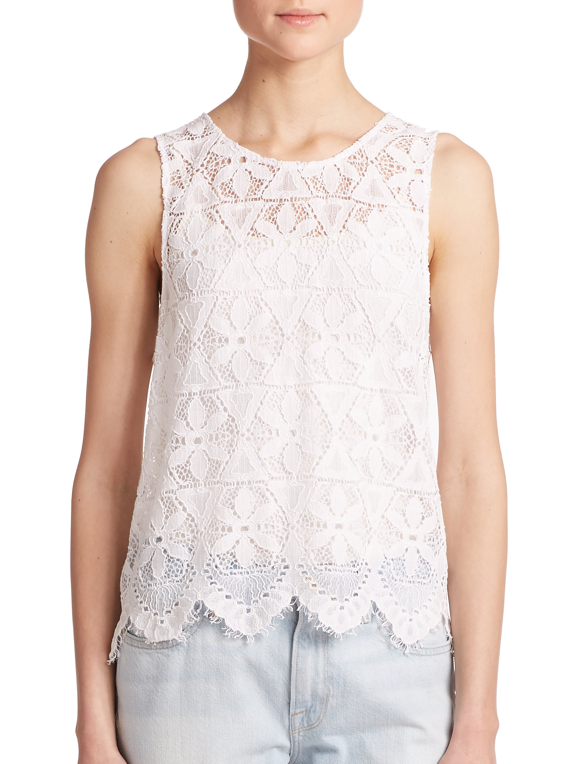 White lace tank top - results from brands Rachel, Scotch And Soda, Karen Kane, products like Women's Plus Lace Trim Tank by Blair, White Size XL, Plus Size Lace Trim Tank Top Pink One Size, Women's Plus Lace Trim Tank by Blair, White Size XL, Clothing.