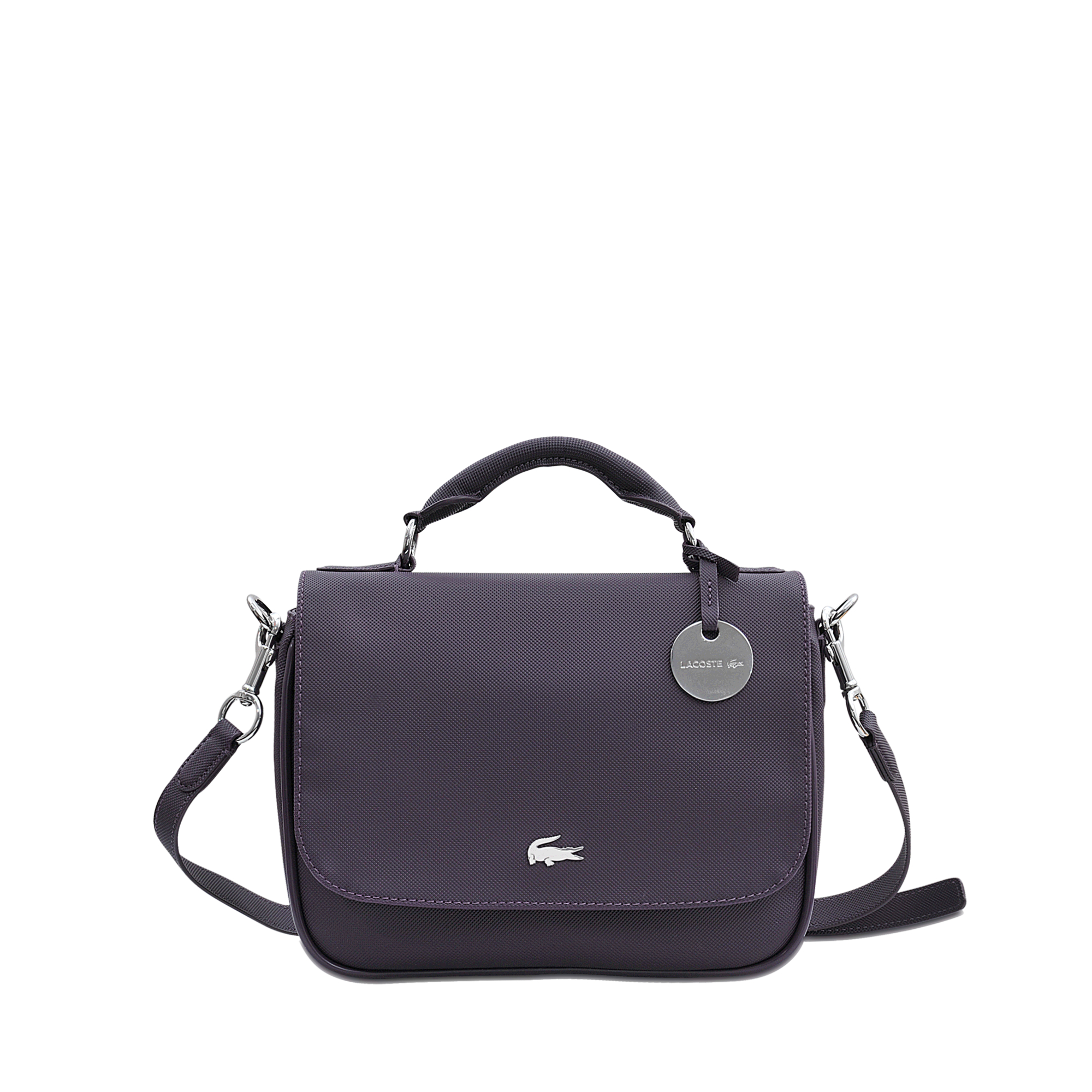 Lacoste Daily Classic Small Satchel in Blue | Lyst