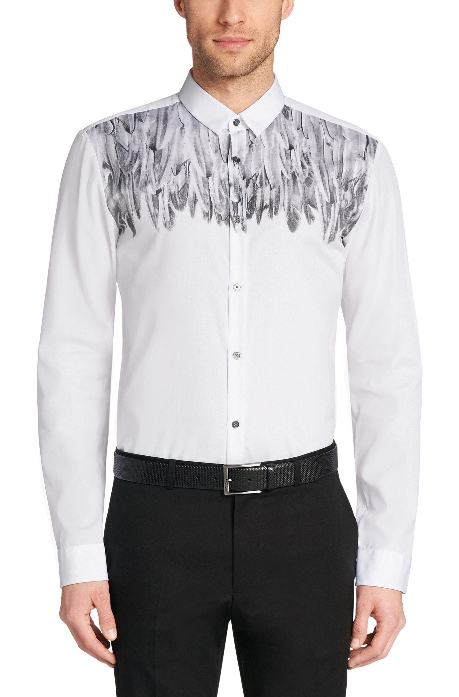 Lyst hugo 39 ero 39 slim fit cotton button down shirt in for Slim fit white button down shirt
