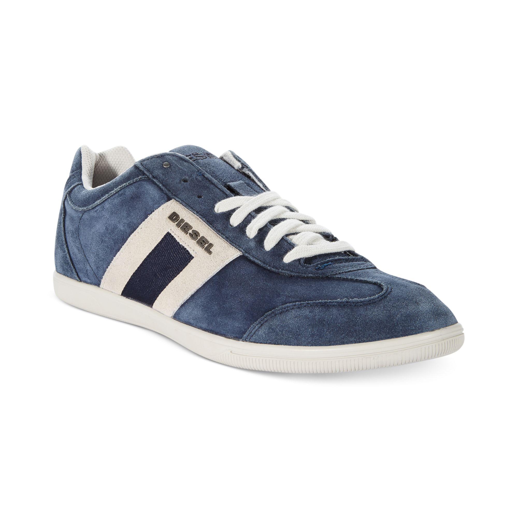 Diesel Shoes Happy Hours Vintagy Lounge Sneakers in Blue ...