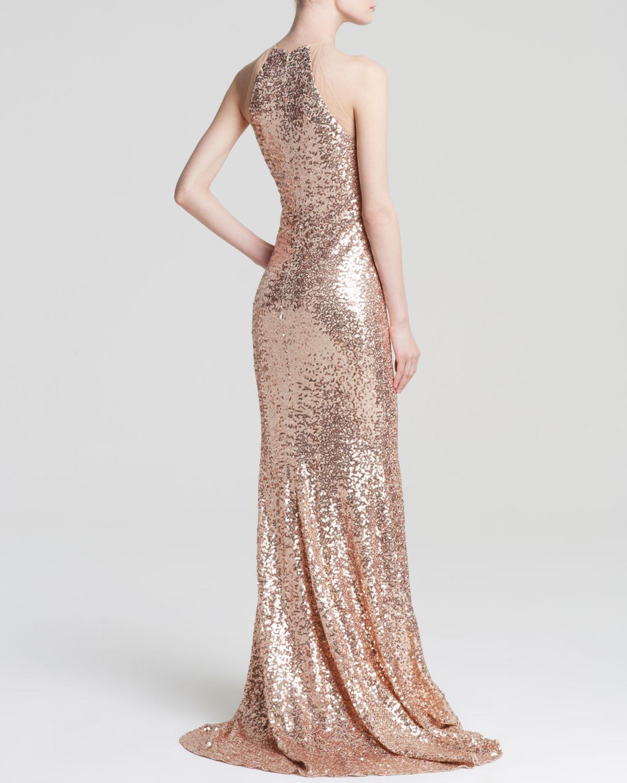 Lyst - Badgley Mischka Gown - Sequin in Pink