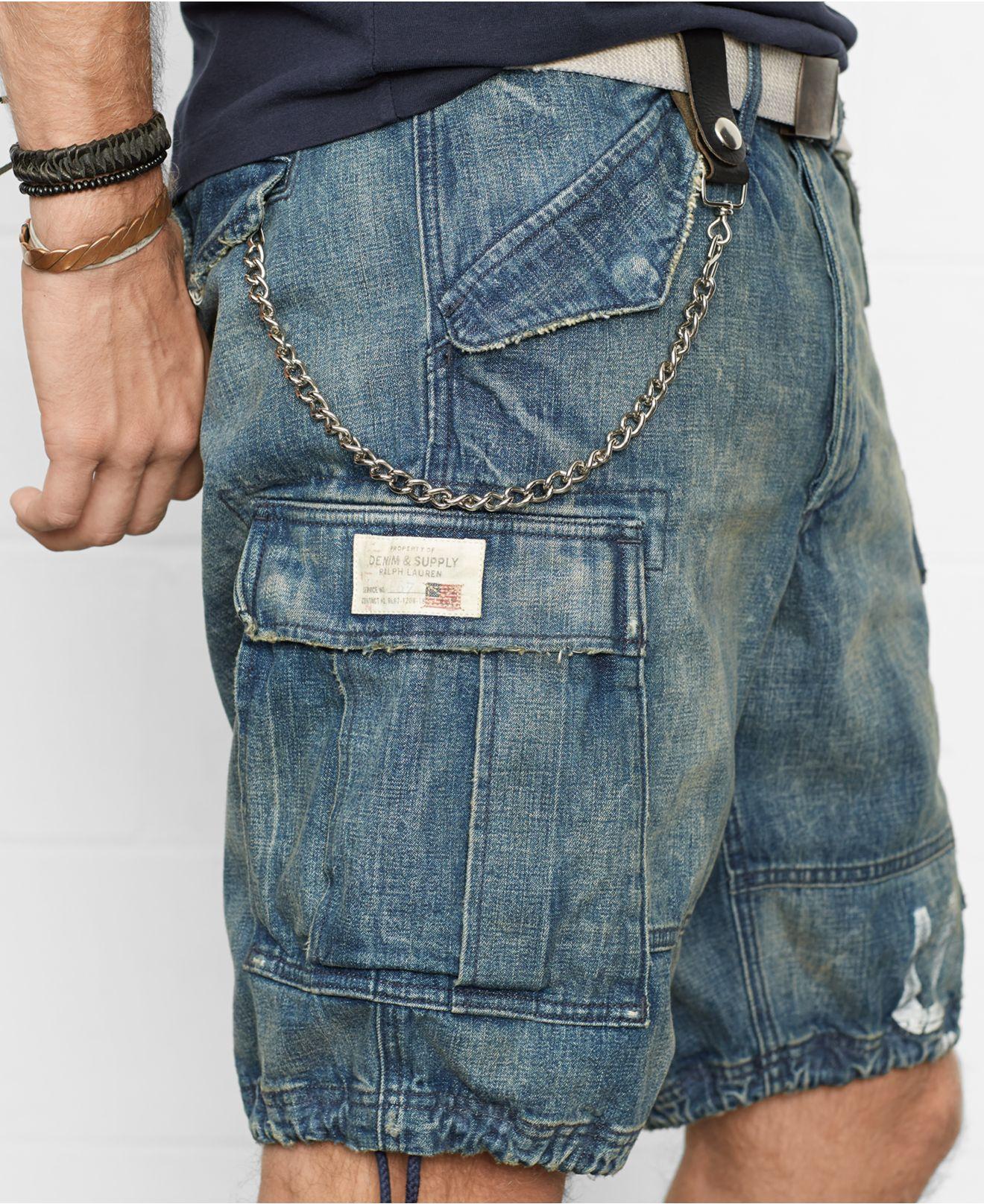 8d38306b4e Denim & Supply Ralph Lauren Denim Cargo Shorts in Blue for Men - Lyst