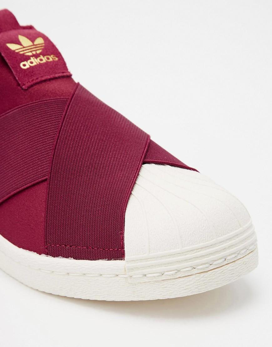 new concept 3a682 4ce97 czech adidas superstar slip on burgundy bb086 620c1