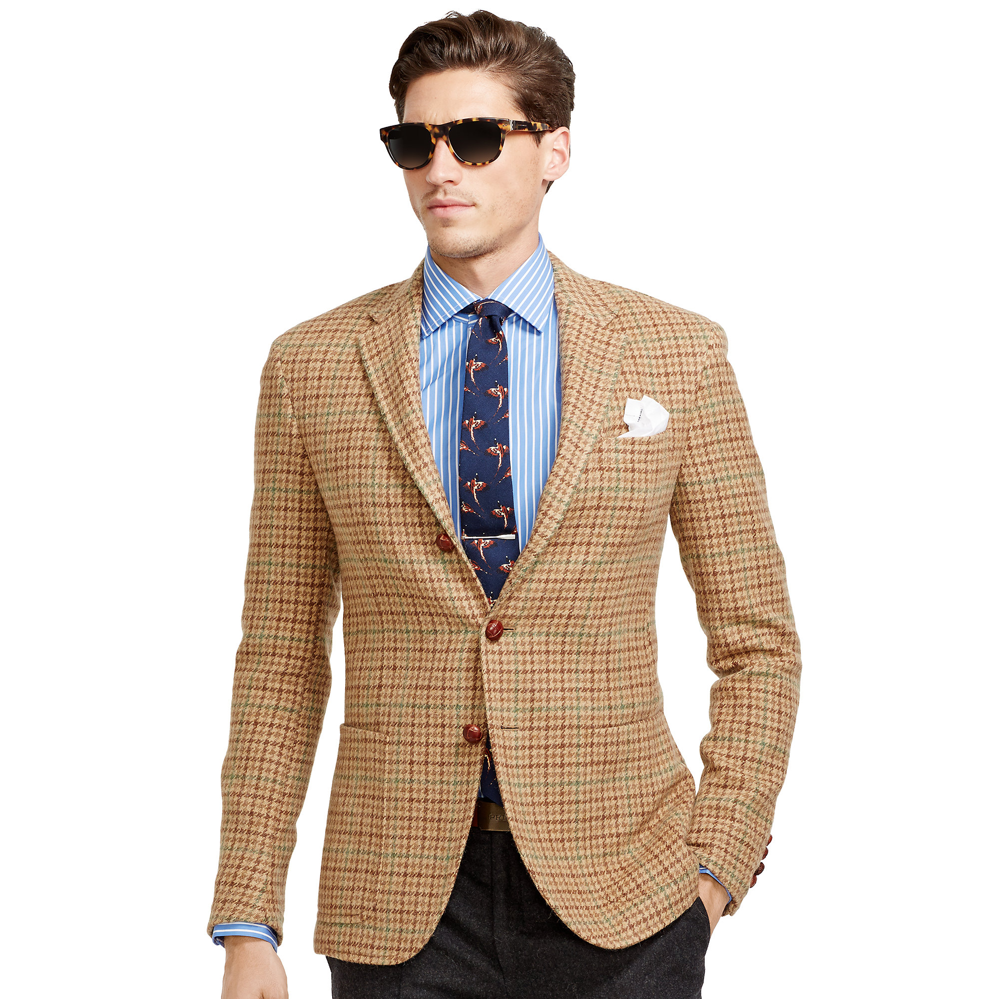 Polo ralph lauren Polo Houndstooth Sport Coat in Brown for Men | Lyst