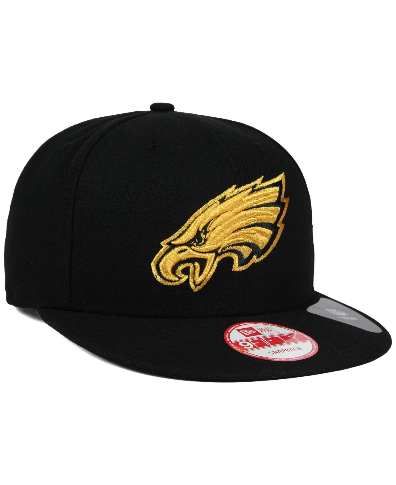 6a257bc143d83 ... free shipping lyst ktz philadelphia eagles black metallic gold 9fifty  snapback 8f689 5316f