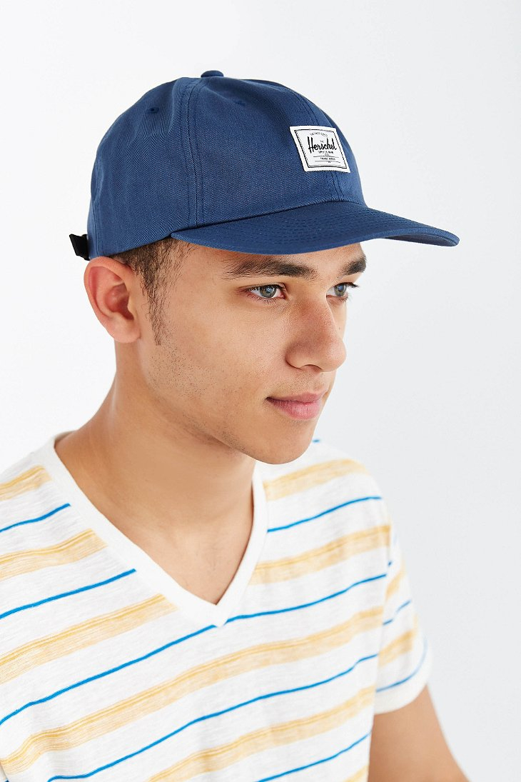 4bda83ba529 ... clearance lyst herschel supply co. albert strapback hat in blue 2723d  5e043