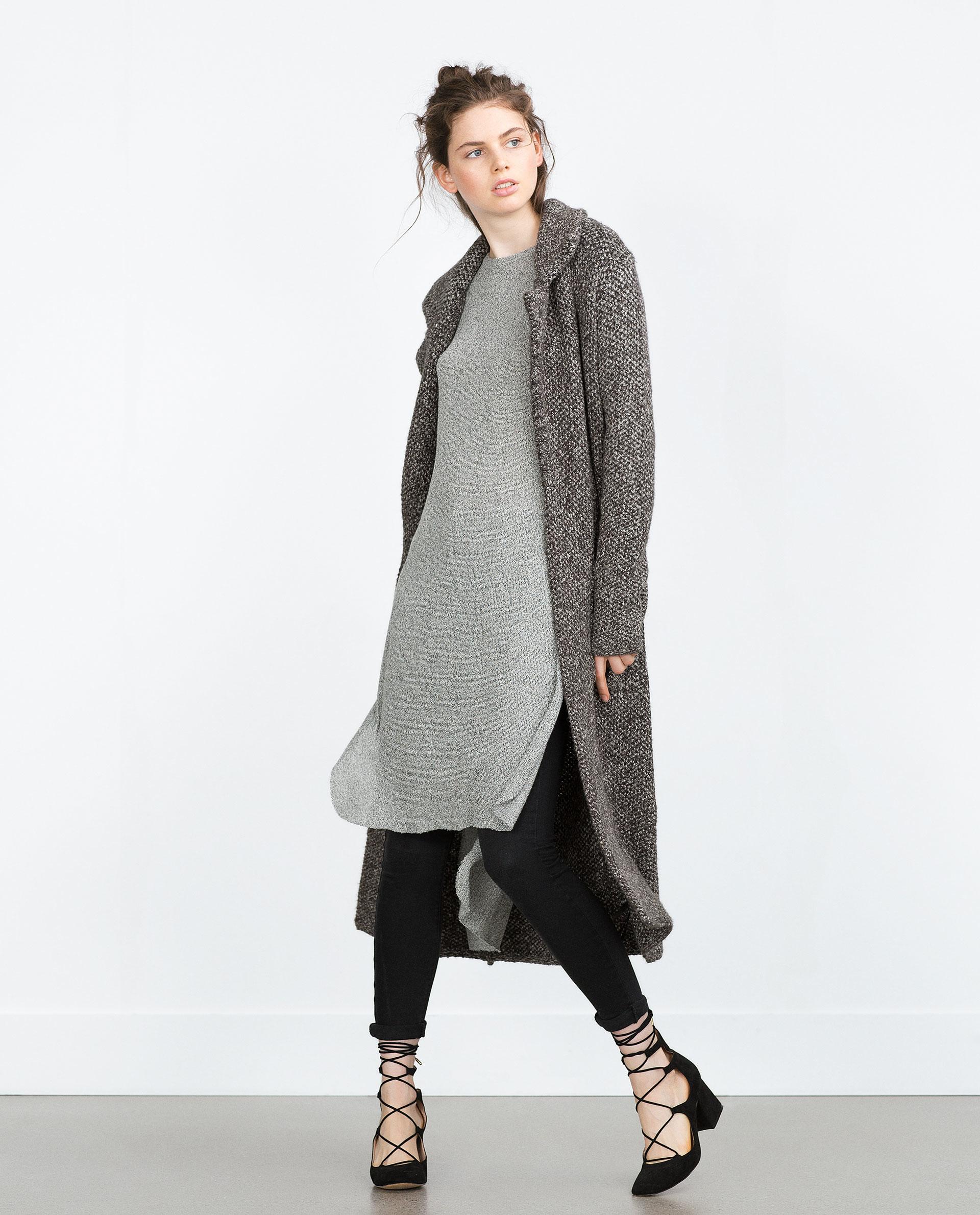 Zara Gray Sweater Coat 115