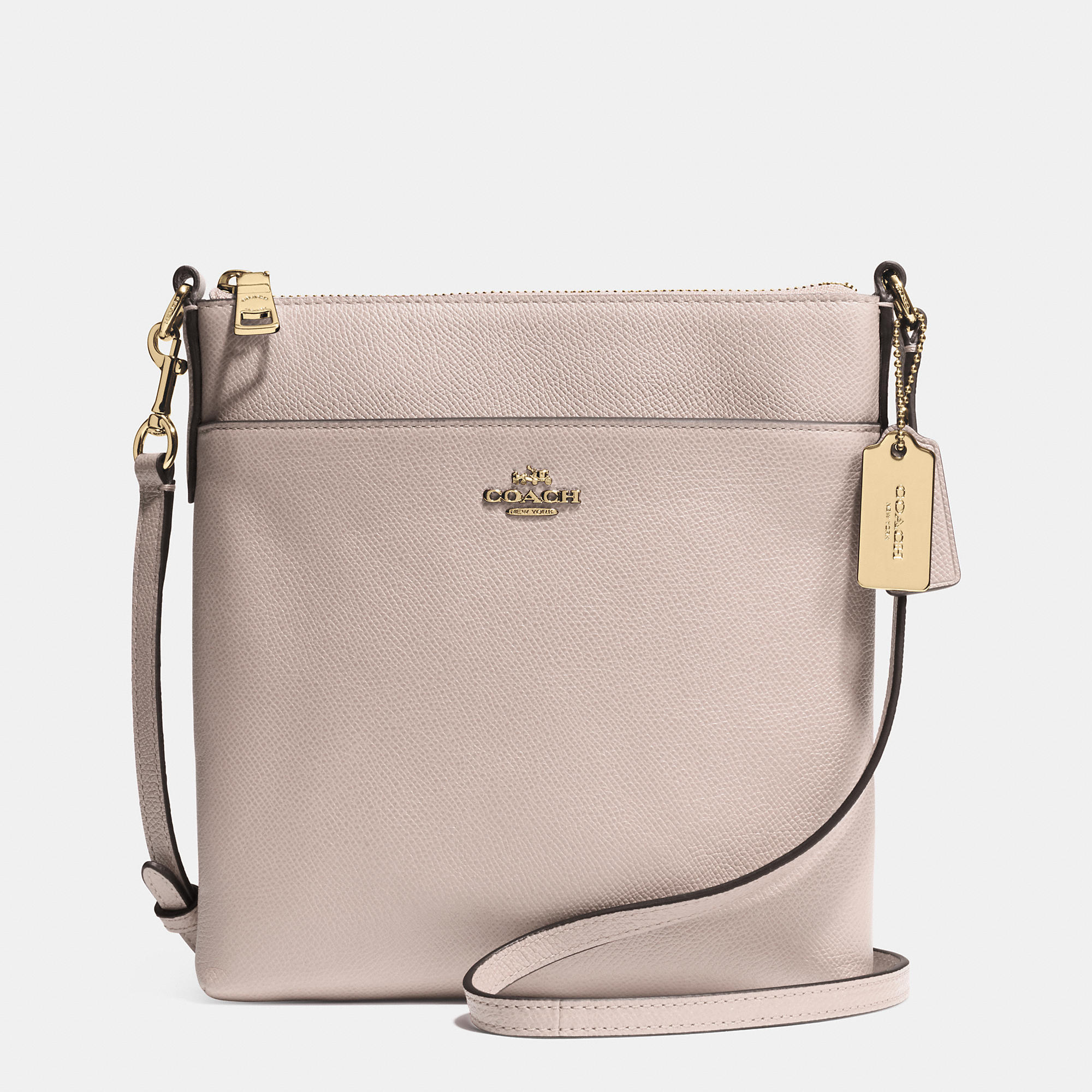 lyst coach north south swingpack in embossed textured leather in rh lyst com