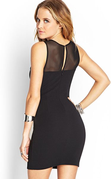 Sheer Mesh Bodycon Dress