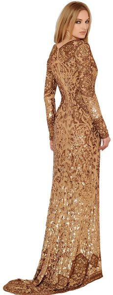 Uk Emilio Pucci Gold Sequins Dress Dress in Gold Emilio Pucci