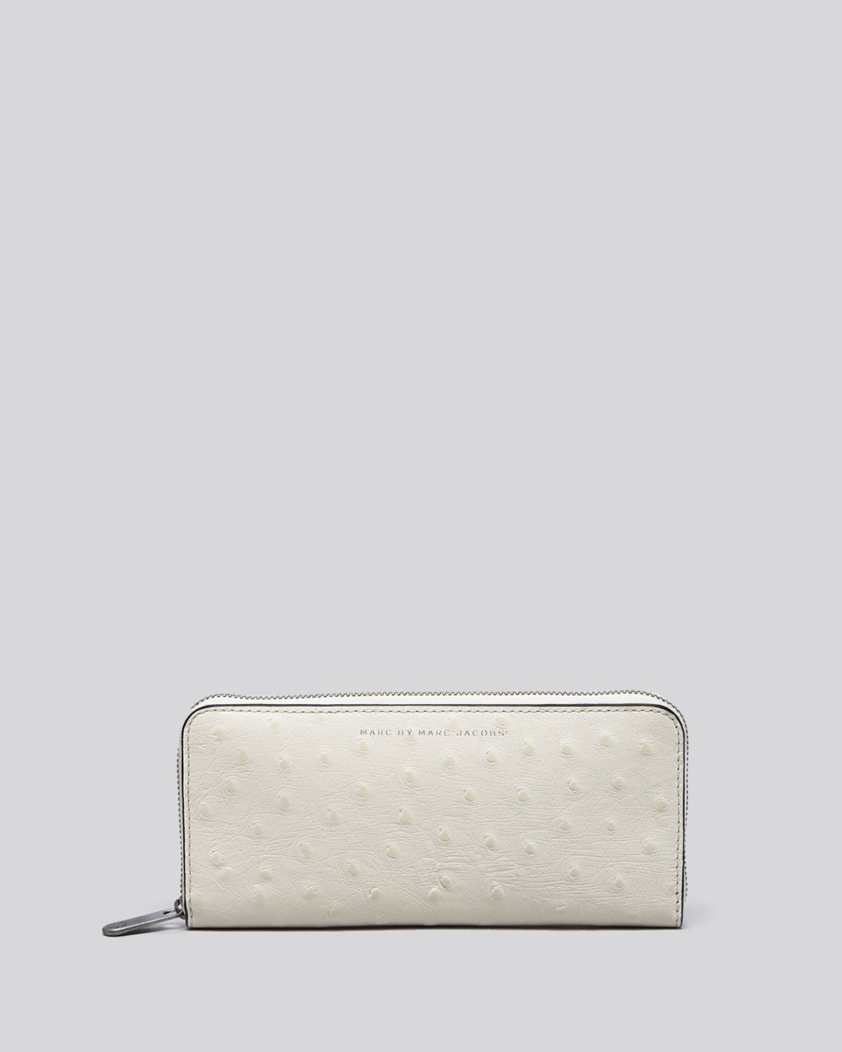 9dc7e76c14 Marc By Marc Jacobs Wallet - Sophisticato Ostrich-Embossed Slim Zip ...