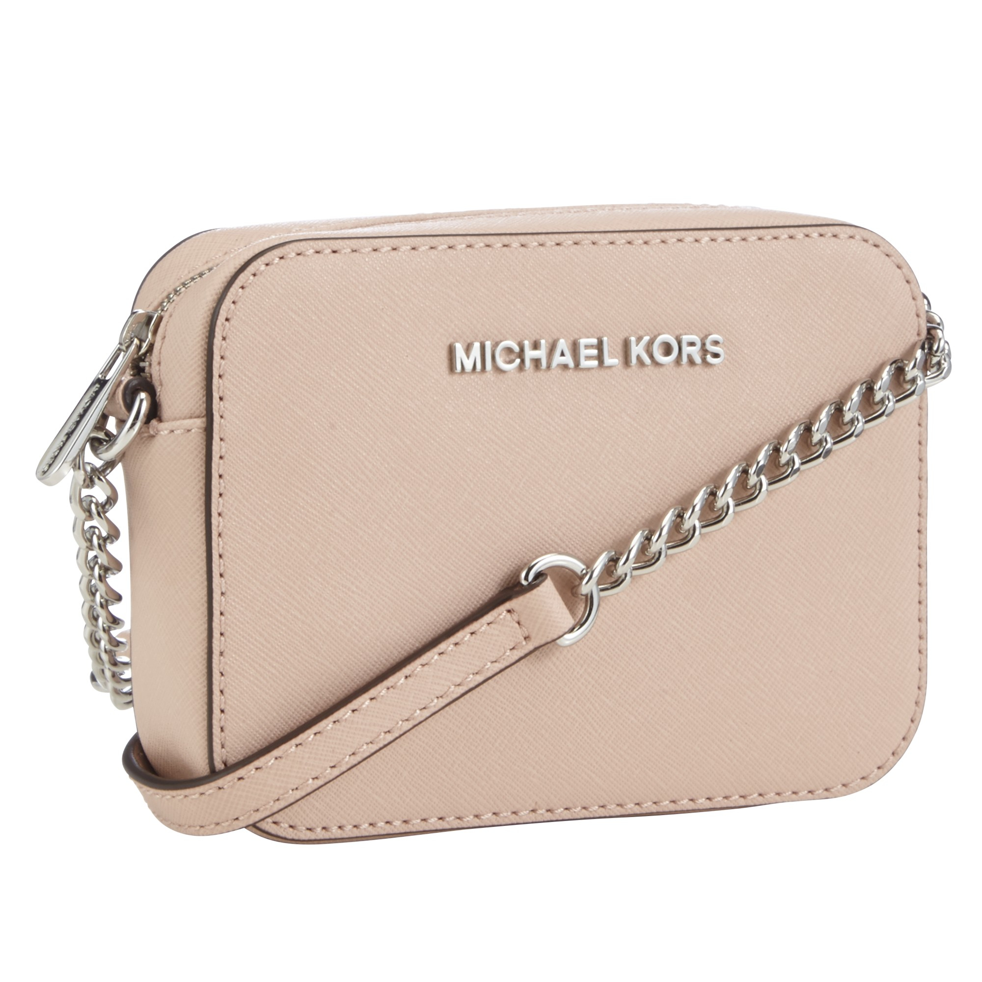 6447320972e4 MICHAEL Michael Kors Jet Set Travel Across Body Bag in Pink - Lyst