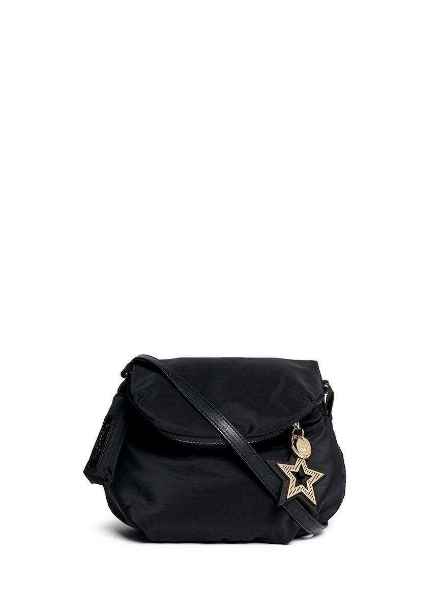 2f0909e4ffdb Lyst - See By Chloé  Joy Rider  Small Crossbody Puffer Bag in Black