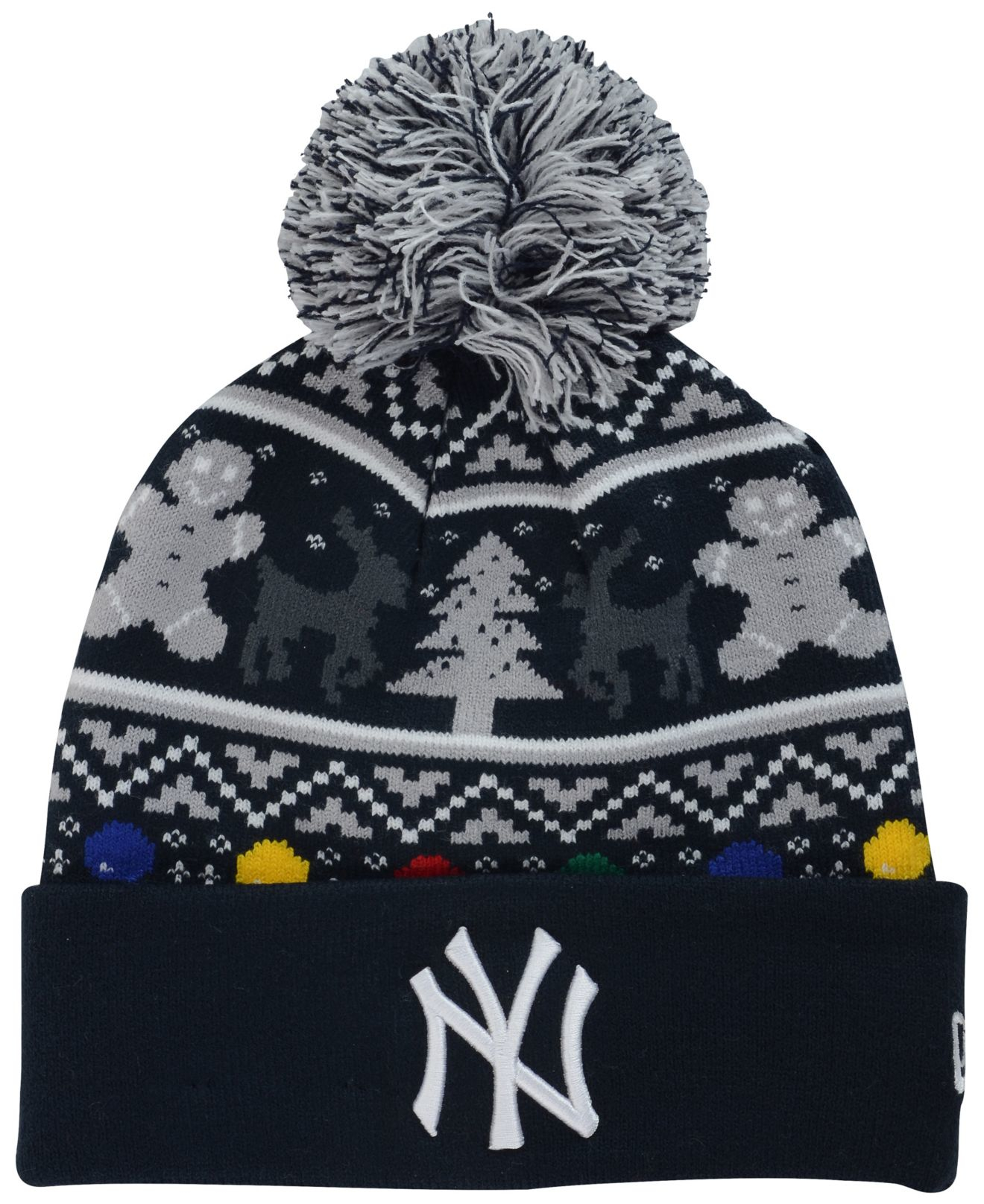 5fb967a4c46 Lyst - KTZ New York Yankees Christmas Sweater Pom Knit Hat in Black