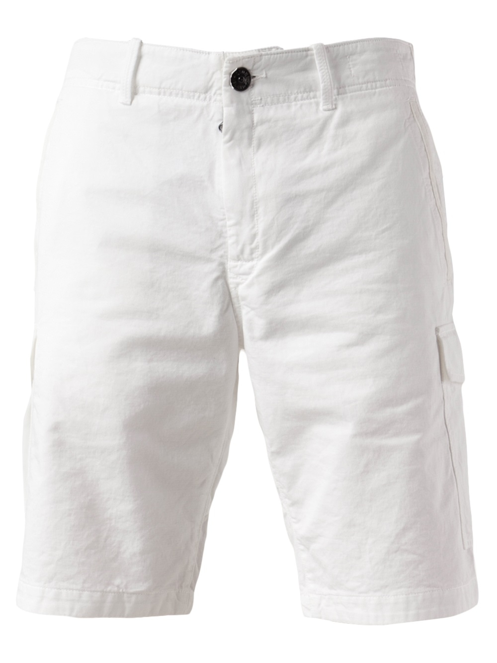 06a32b9d Stone Island Cargo Short in White for Men - Lyst