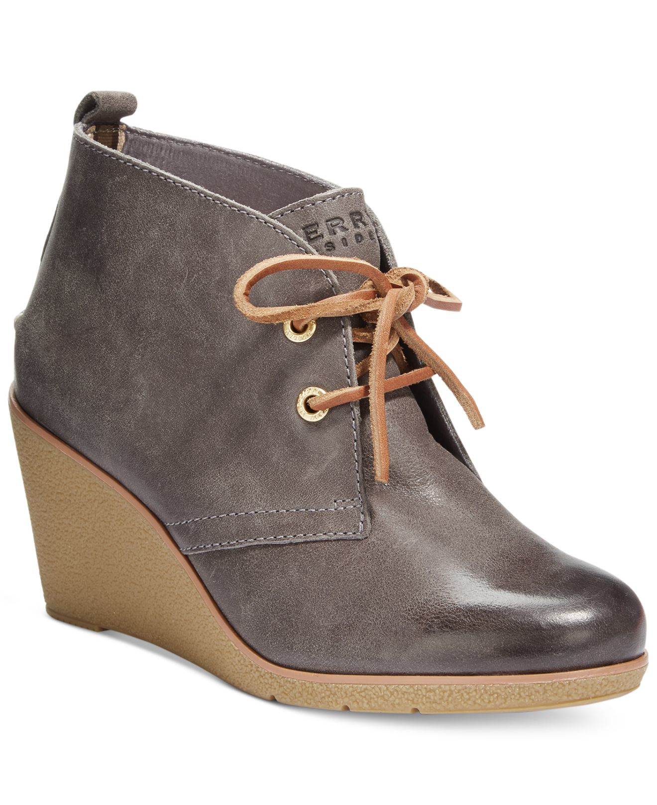 Womens Grey Wedge Shoes
