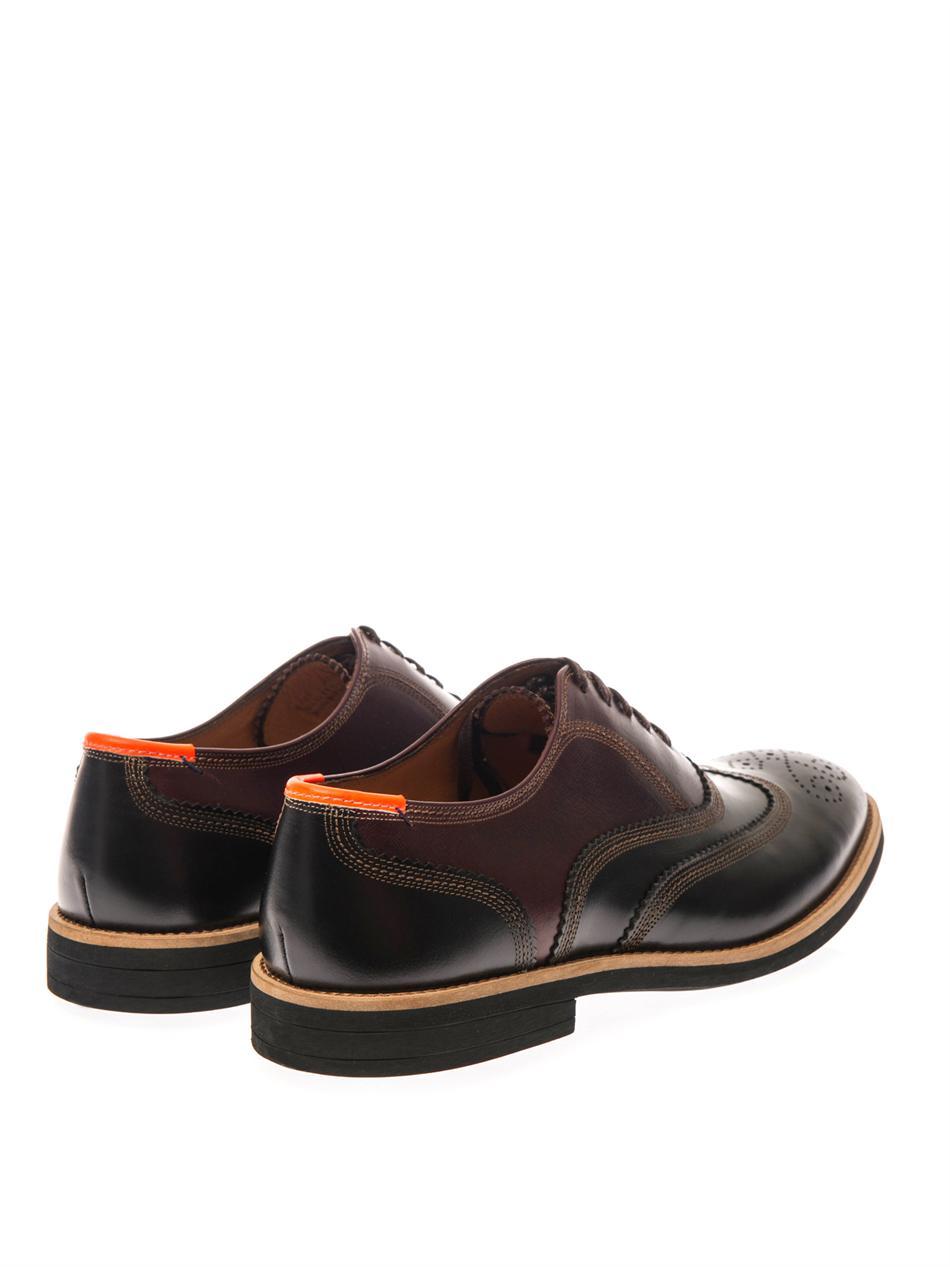 Orange Brogues Clarks Shoes
