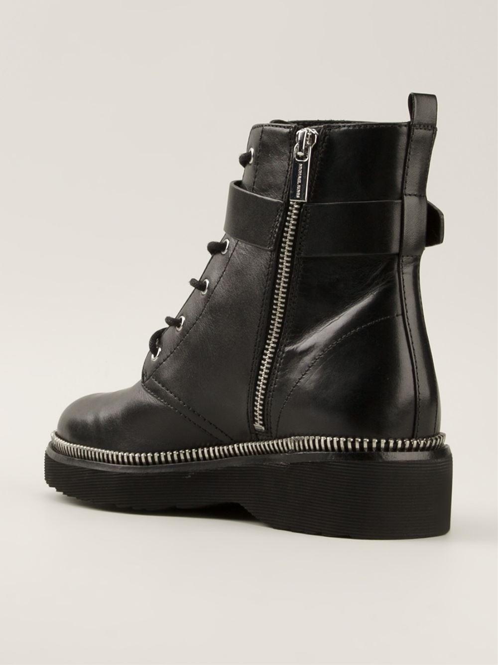 michael michael kors 39 vivia 39 ankle boots in black lyst. Black Bedroom Furniture Sets. Home Design Ideas