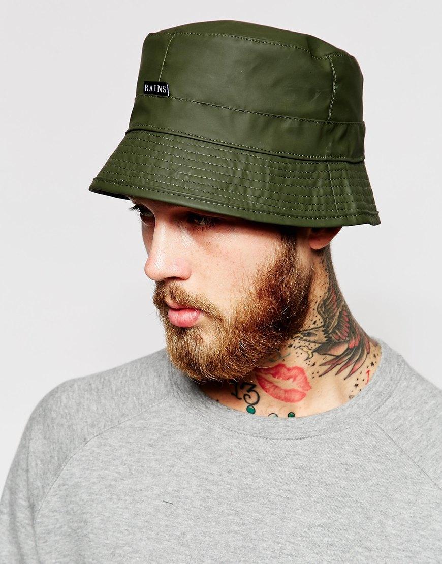 ba864e916a4 Lyst - Rains Bucket Hat in Green for Men