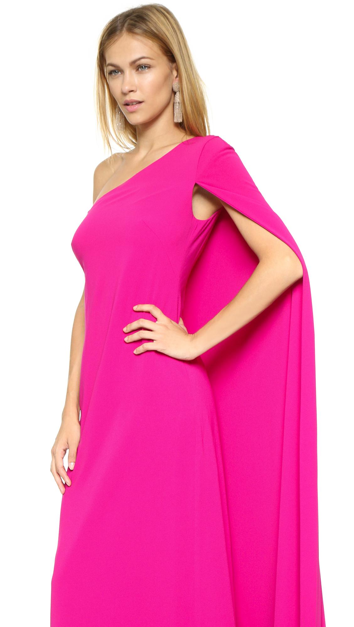Jill jill stuart One Shoulder Gown in Pink | Lyst