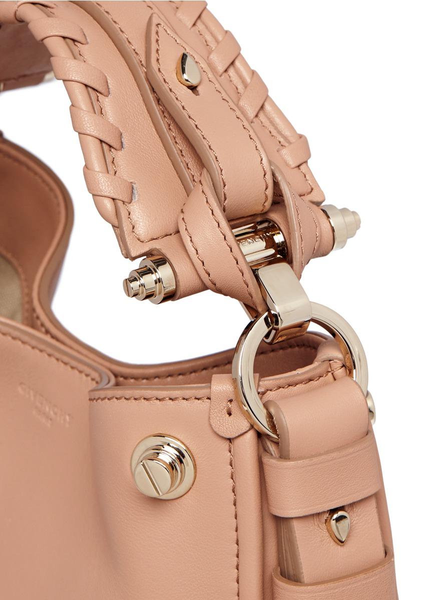 Lyst - Givenchy Obsedia Zanzi Mini Stud Hobo Bag in Pink 79cc16ab7d