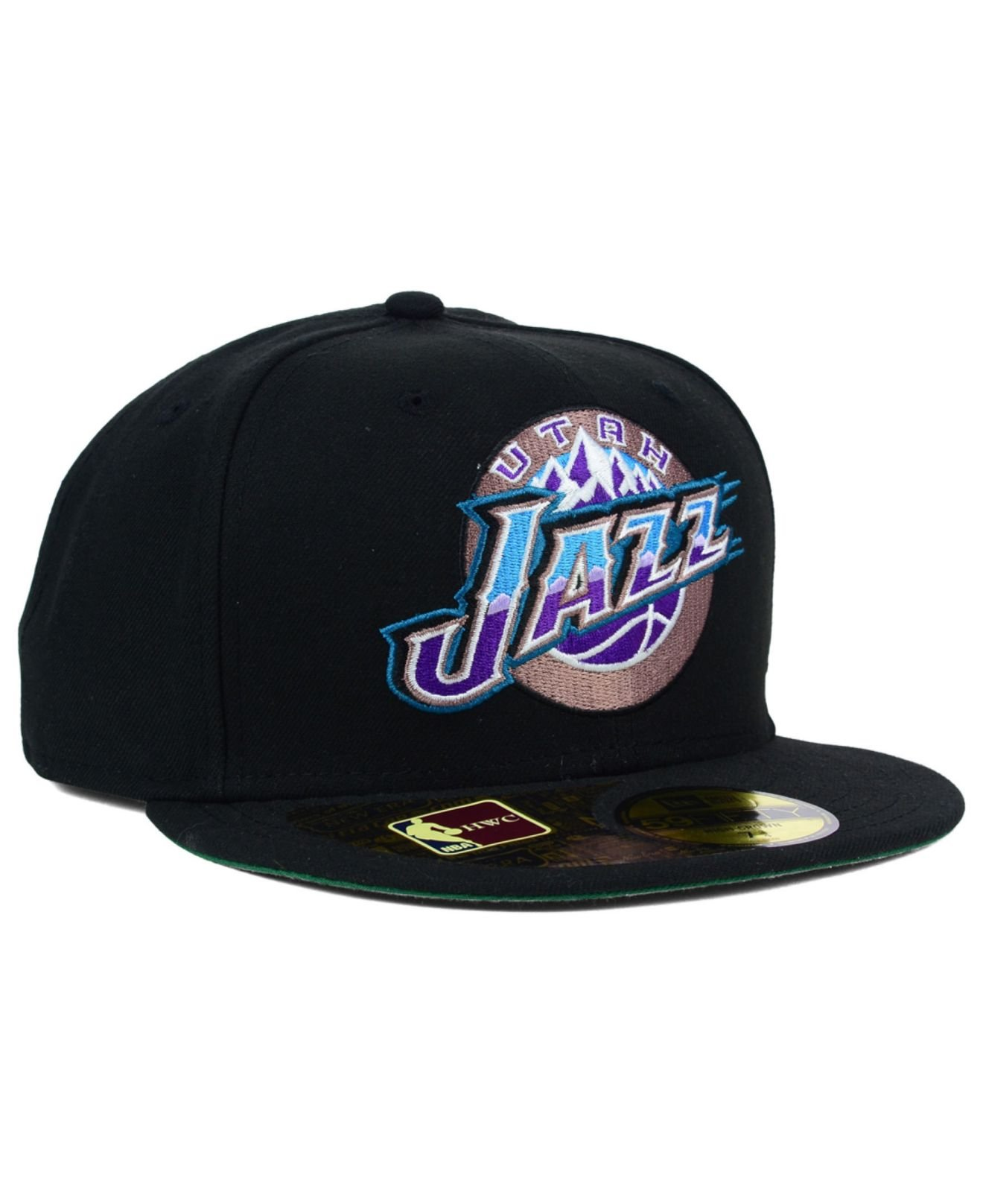Lyst - KTZ Utah Jazz Retro 59Fifty Cap in Black for Men 4d0d23fedcf