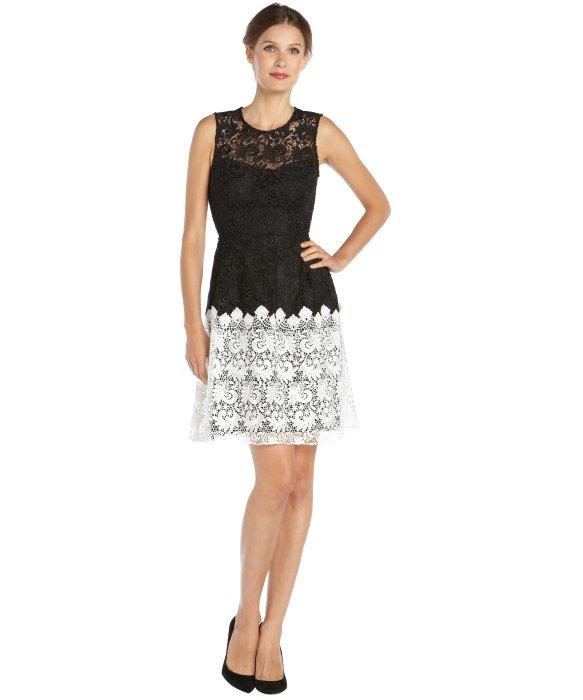Colorblock Lace Dress
