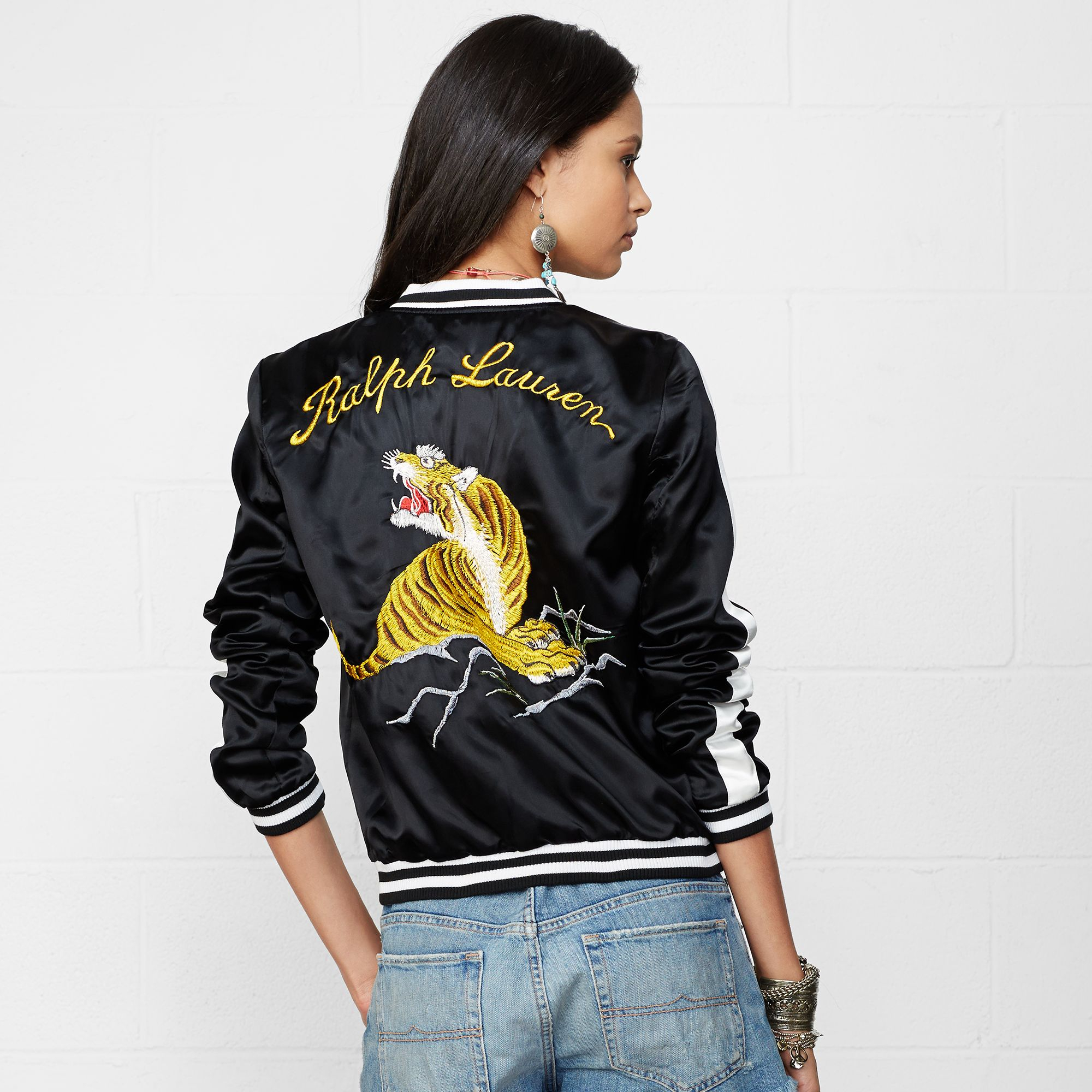 Versace City Lights Embroidered Jacket for Women   Versace Online