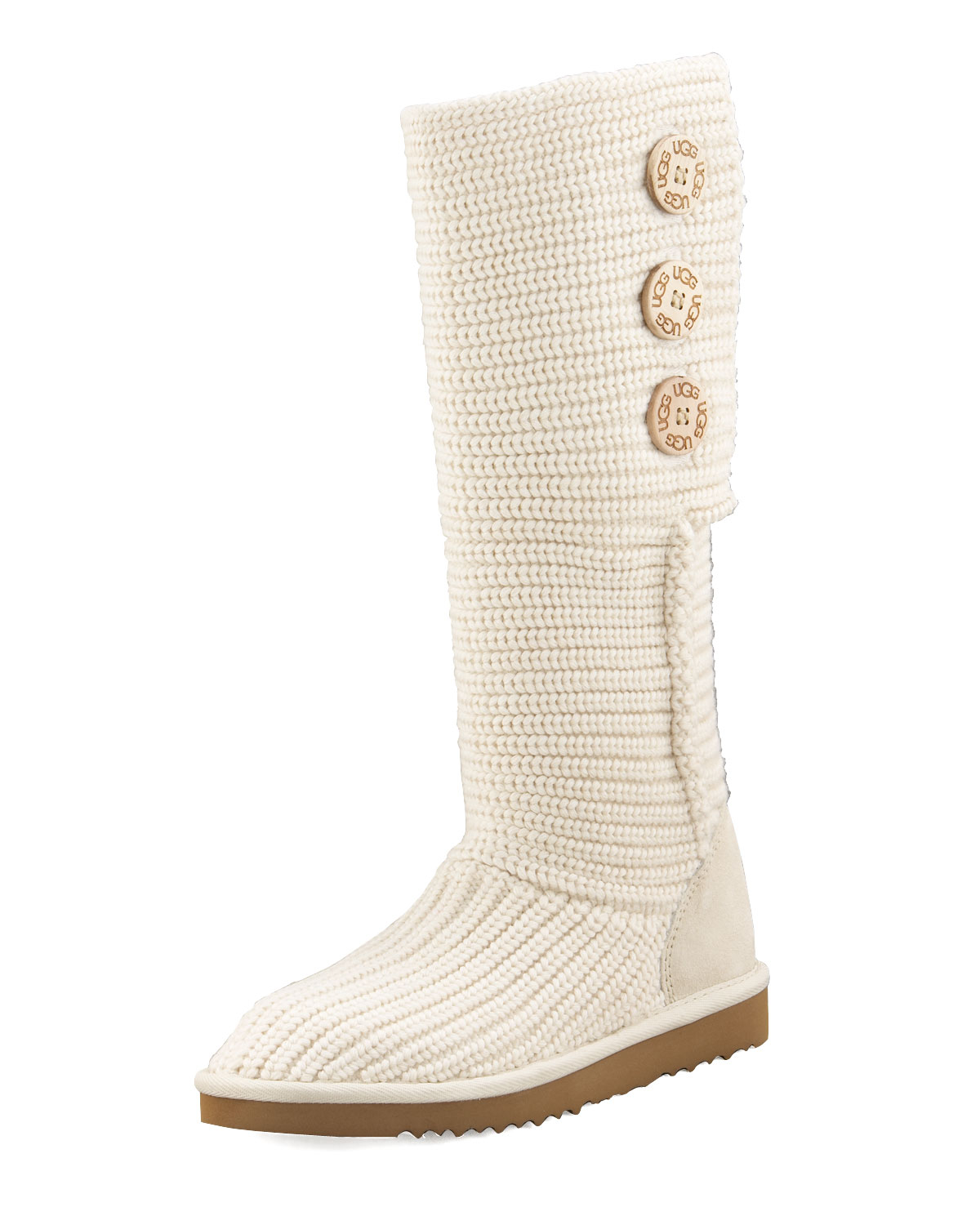 Ugg Classic Cardy Crochet Shearling Boot In Natural Lyst