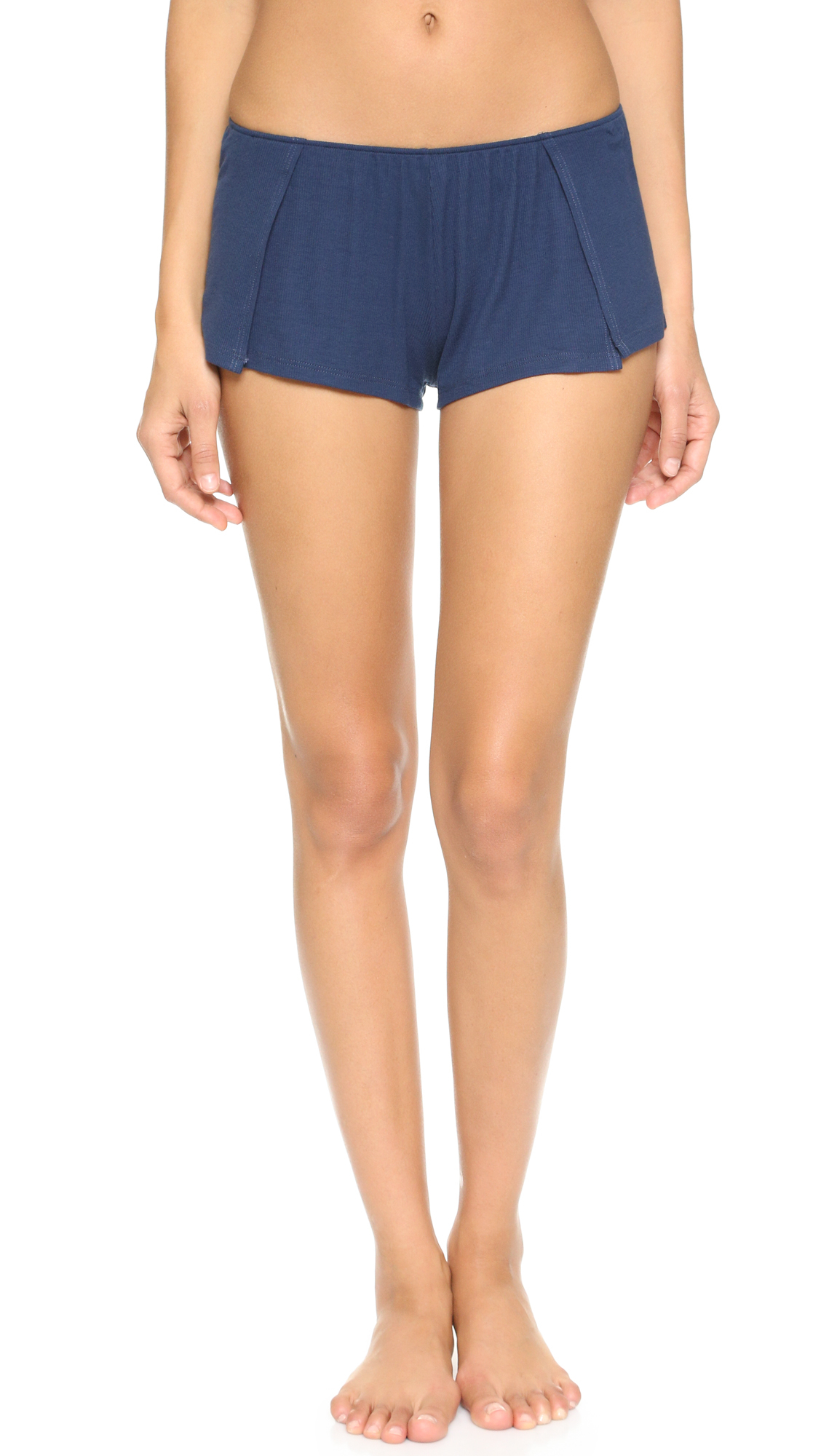 5940d61b09 Lyst - Only Hearts Feather Weight Rib Sleep Shorts in Blue