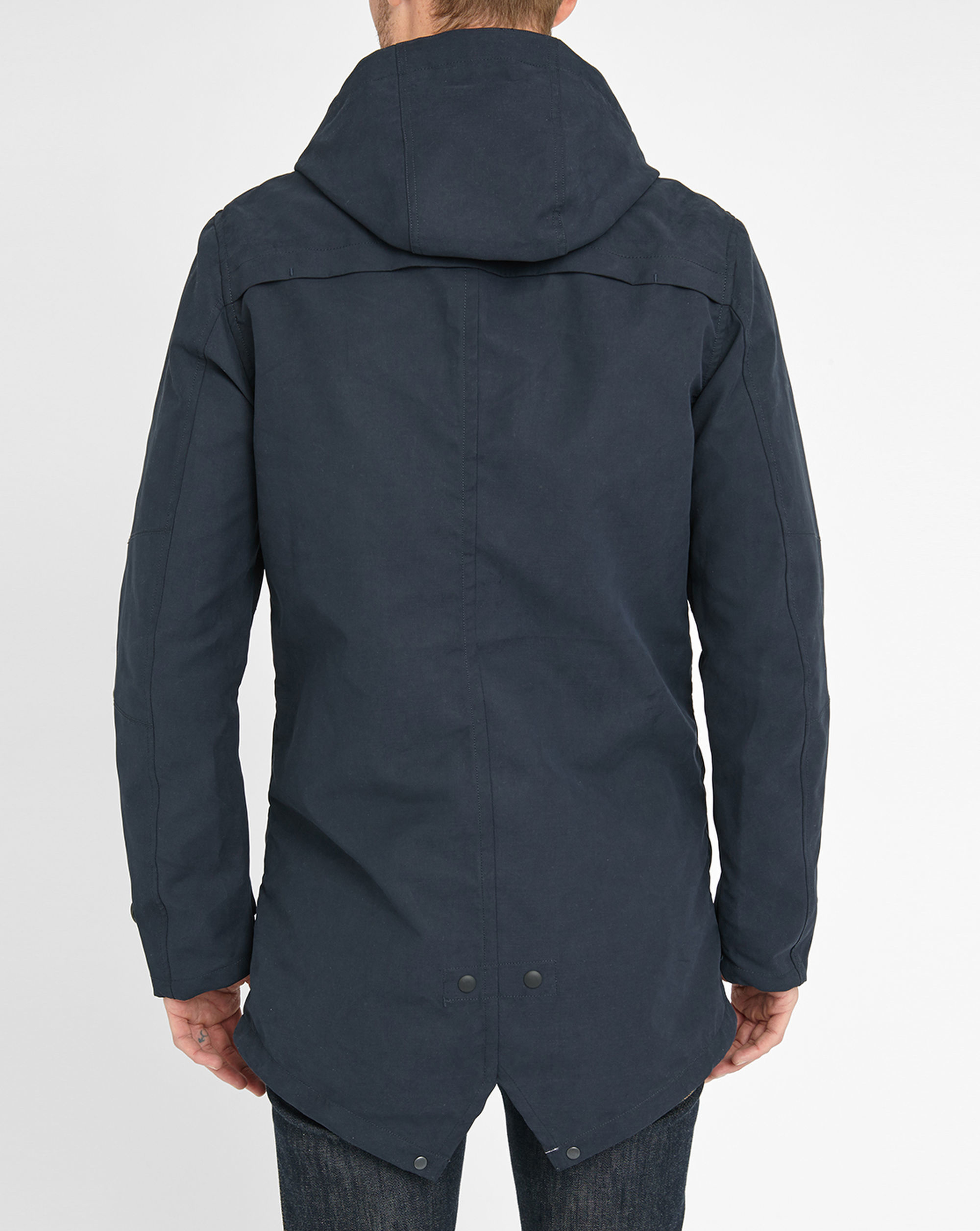scotch soda navy buttoned parka in blue for men lyst. Black Bedroom Furniture Sets. Home Design Ideas