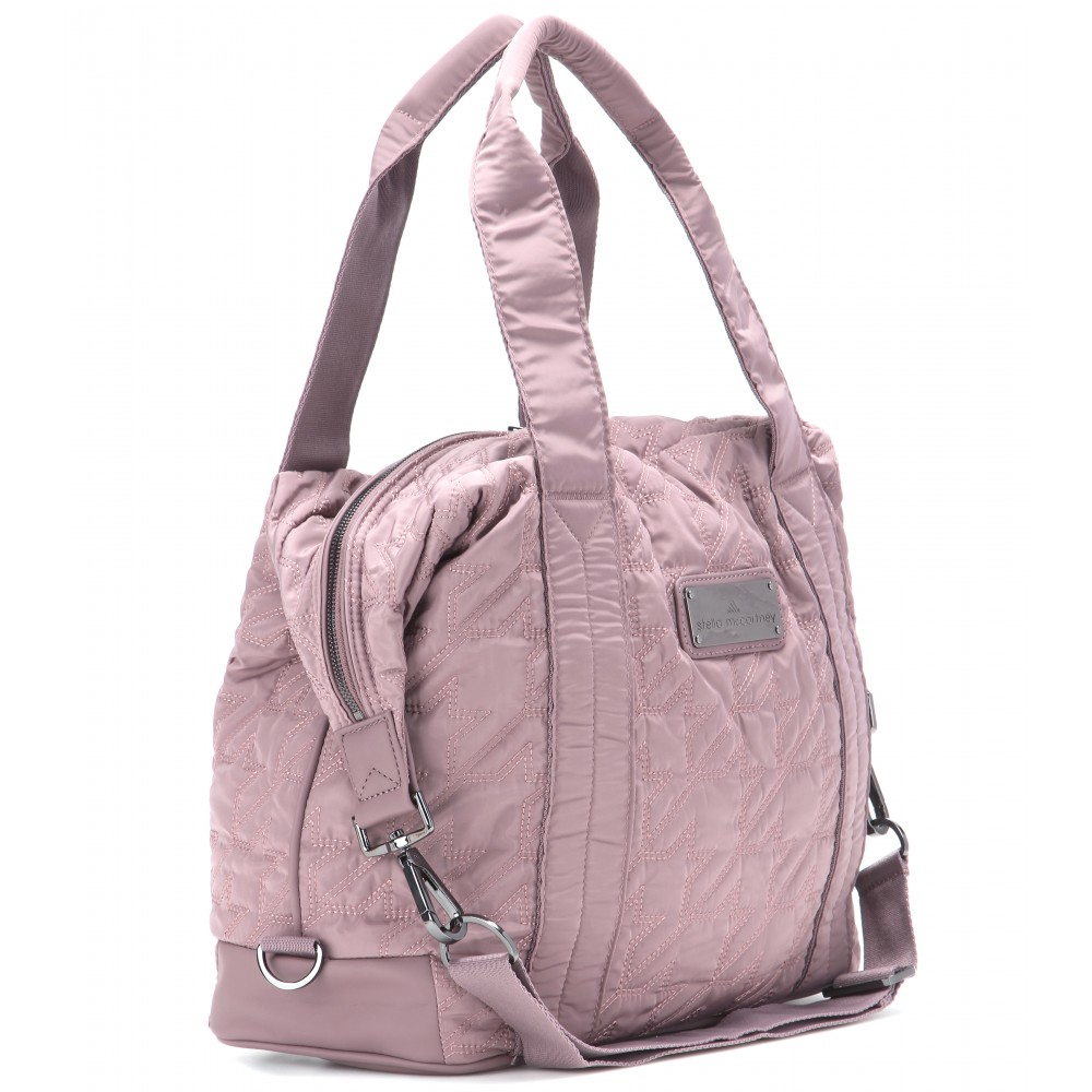 Adidas By Stella Mccartney Quilted Gym Bag In Pink