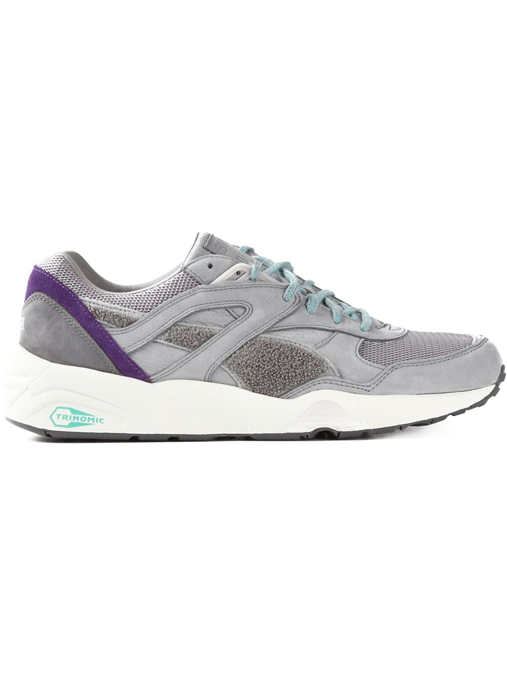 puma bwgh x 39 trinomic r698 39 sneakers in gray for men grey lyst. Black Bedroom Furniture Sets. Home Design Ideas
