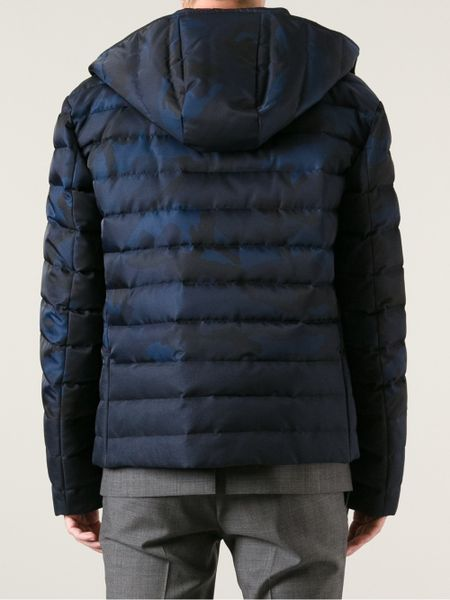 Valentino Camouflage Jacket In Blue For Men Lyst