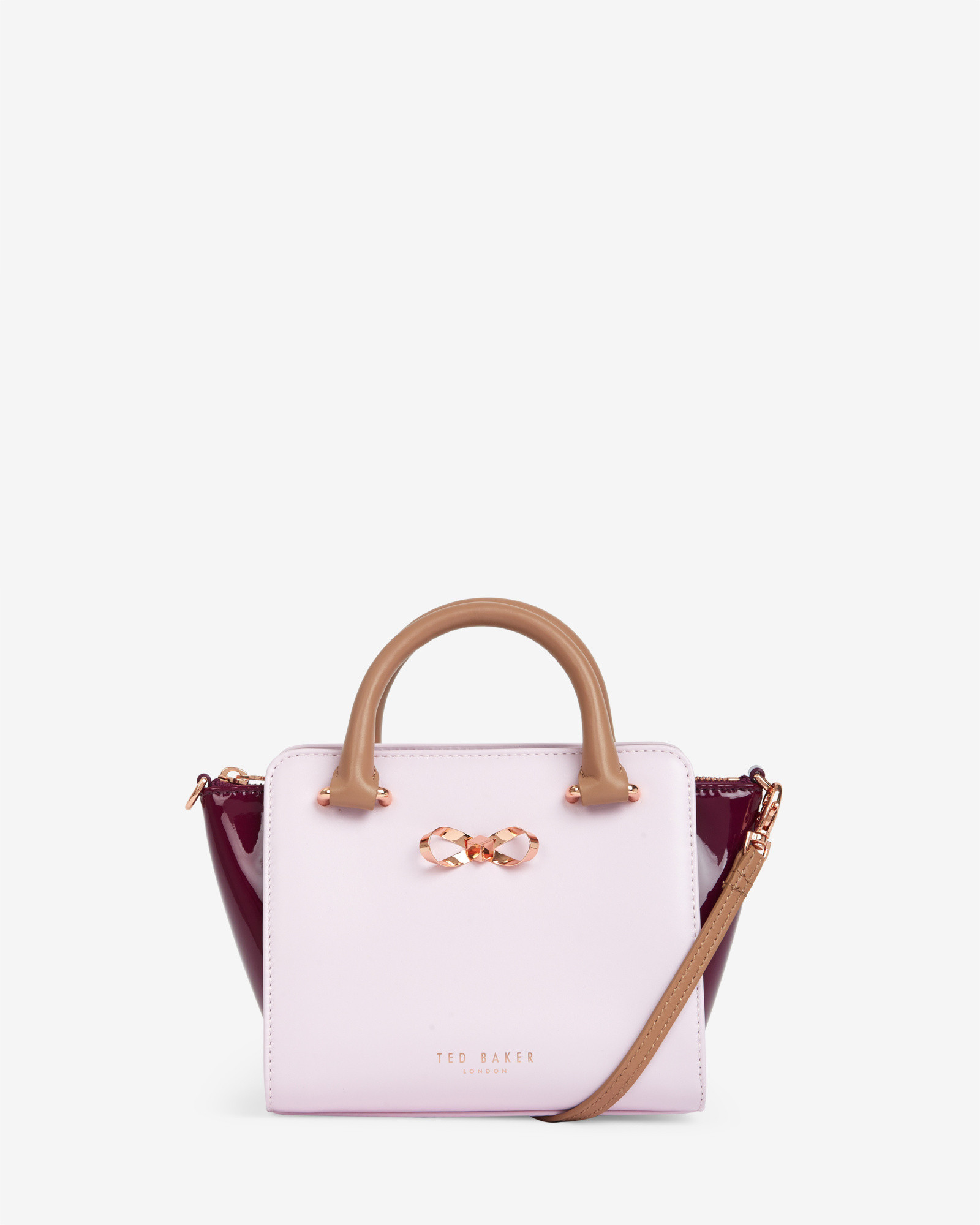 777d7277e18 Ted Baker Colour Block Leather Tote Bag in Pink - Lyst