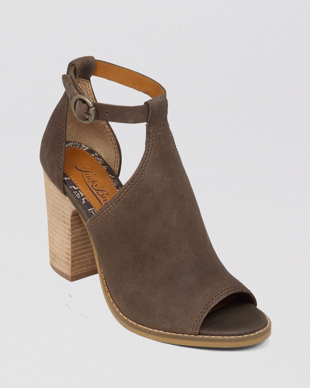 Lucky Brand Sandals - Lanne High Heel In Brown   Lyst