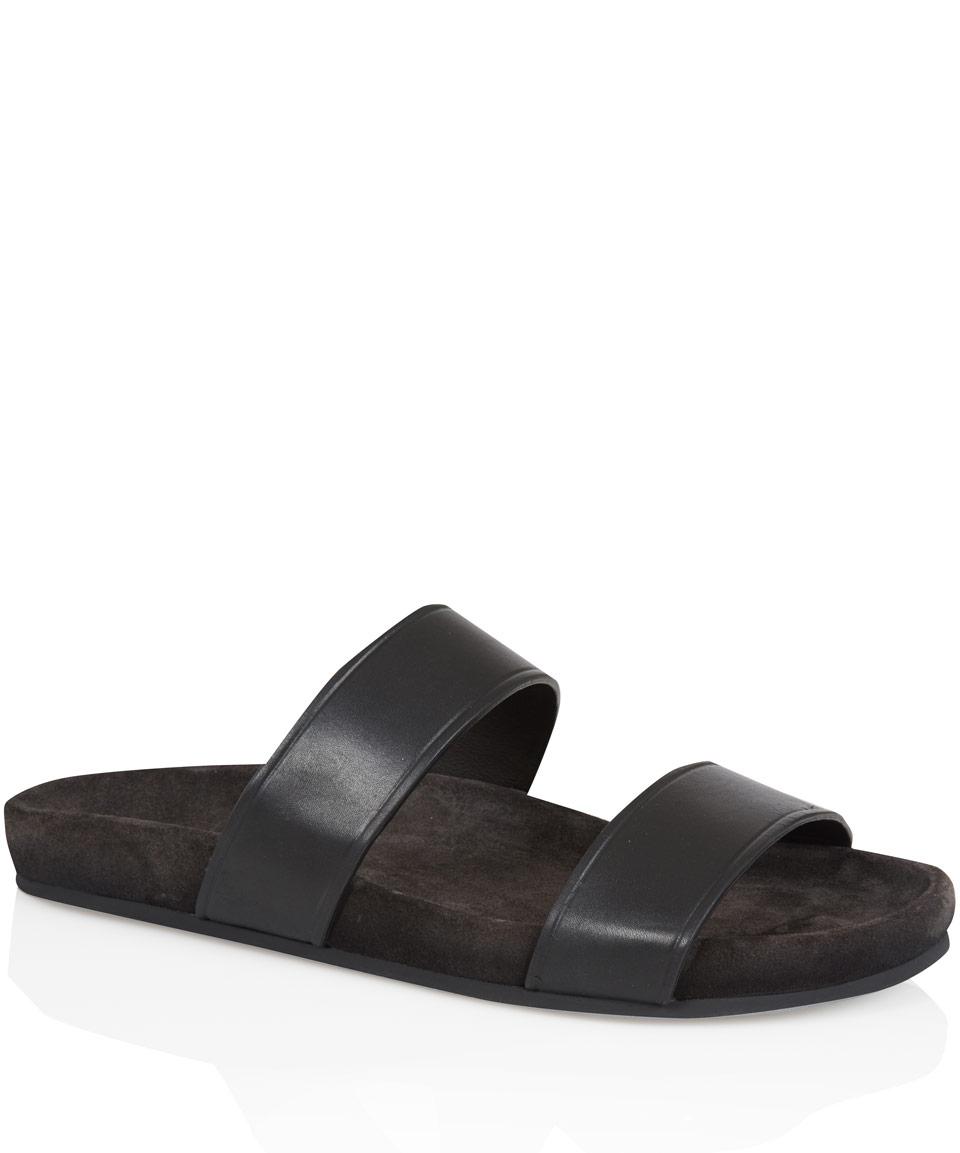 Lyst Lanvin Black Double Strap Sandals In Black For Men