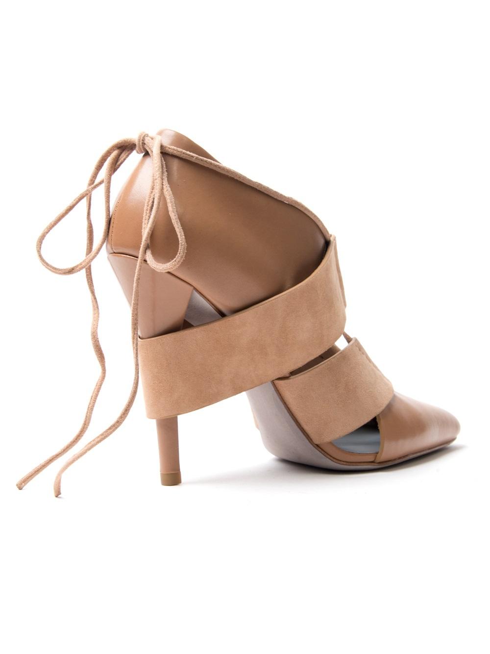 Alexander wang Mila Strappy Sandal Heel in Brown | Lyst